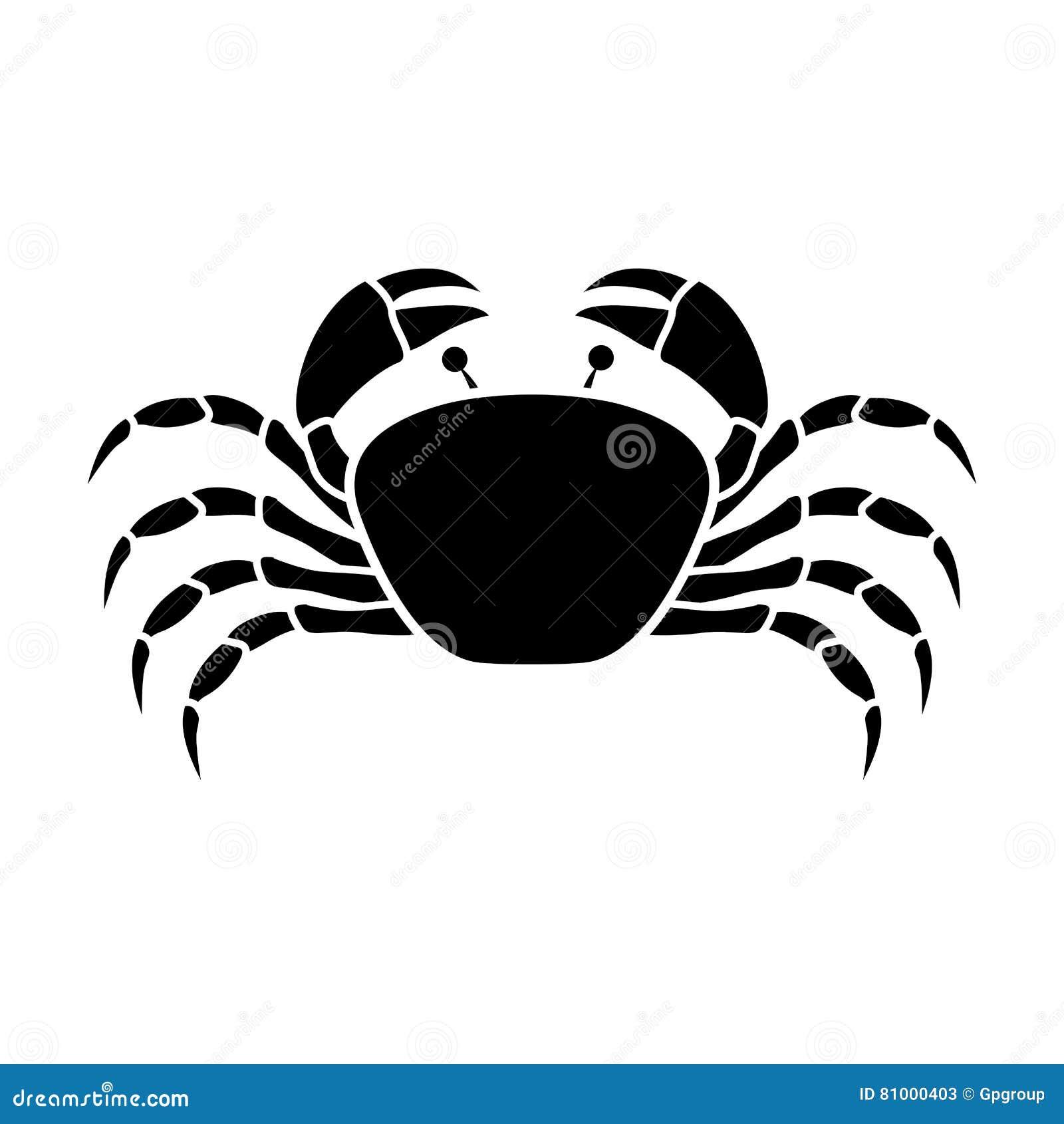 Konturmonokrom med krabban över