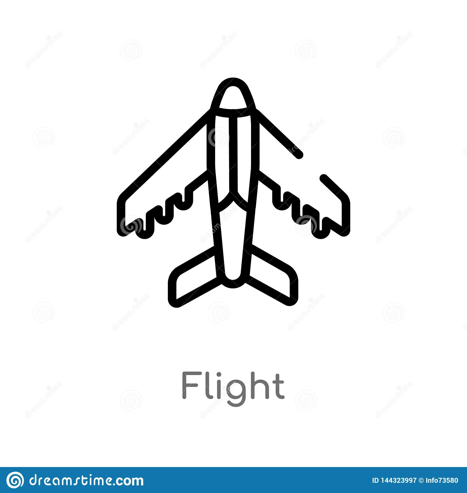 Konturu lota wektoru ikona odosobniona czarna prosta kreskowego elementu ilustracja od architektury i podróży pojęcia Editable we