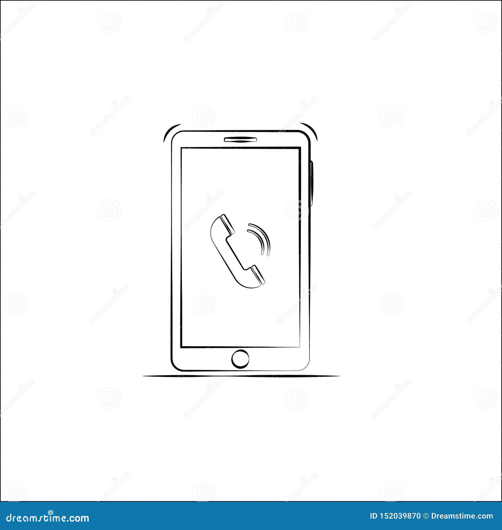 Konturu smartphone ikona wektor