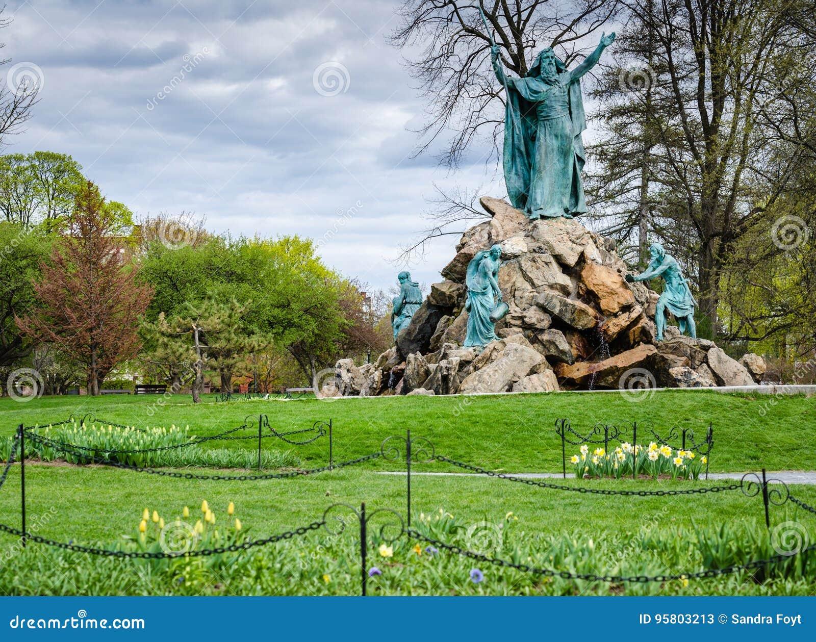 Konung Memorial Fountain - Washington Park - Albany, New York