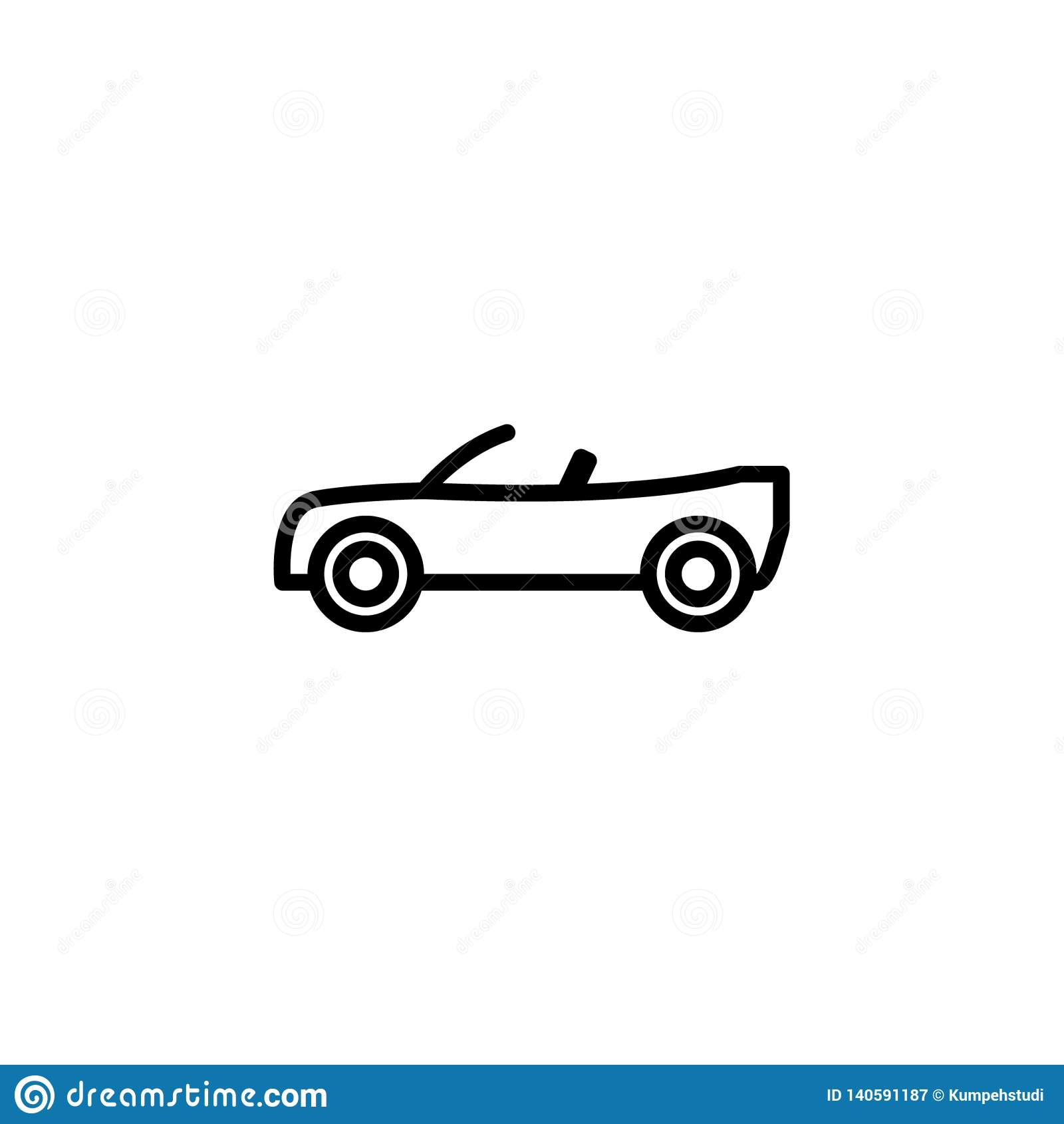 Konvertierbare Autoikonenaktie des Transporter lokalisierten Vektors