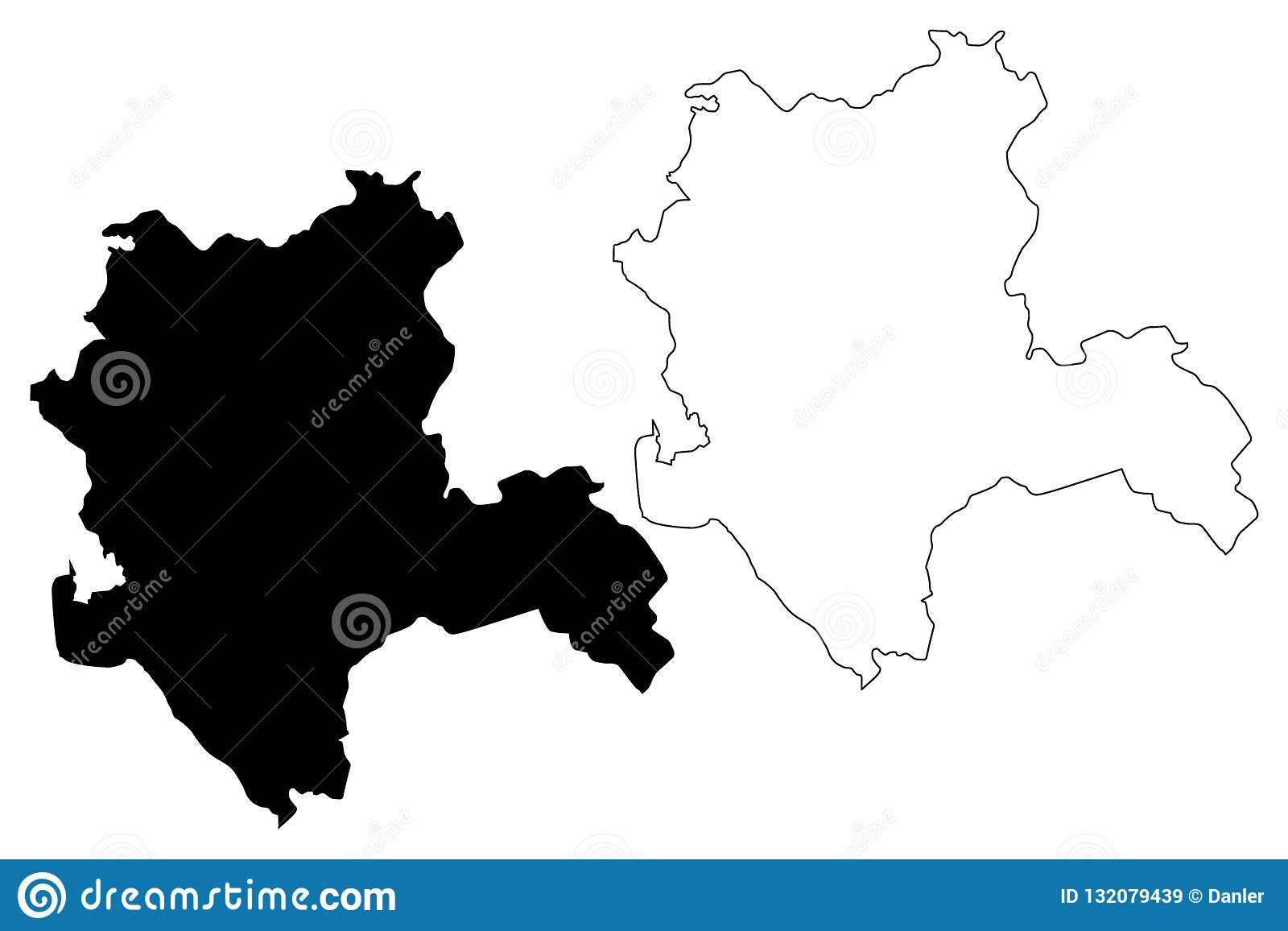 Konya map vector stock vector. Illustration of drawing ...