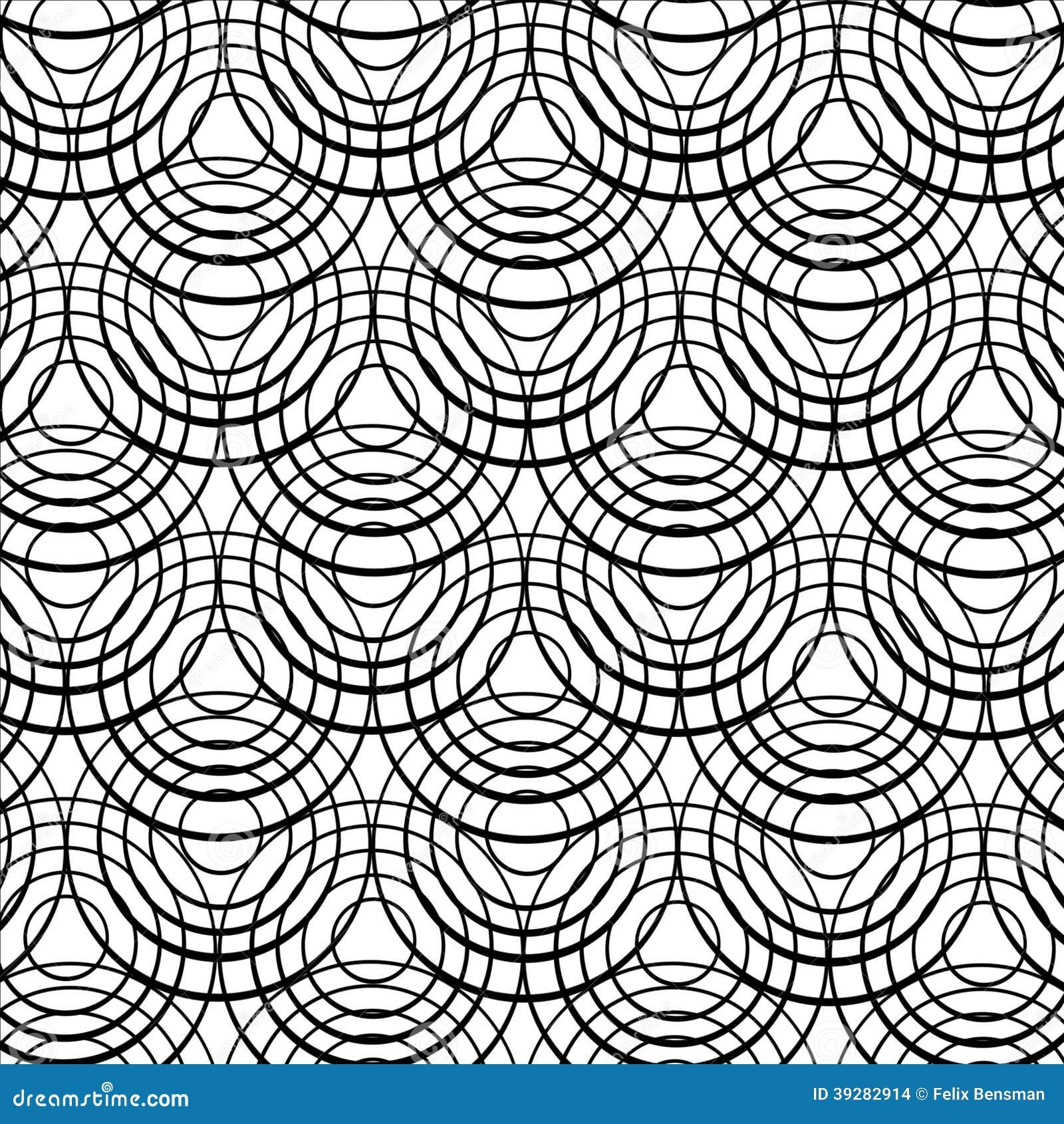 Konzentrische schwarze Ringe