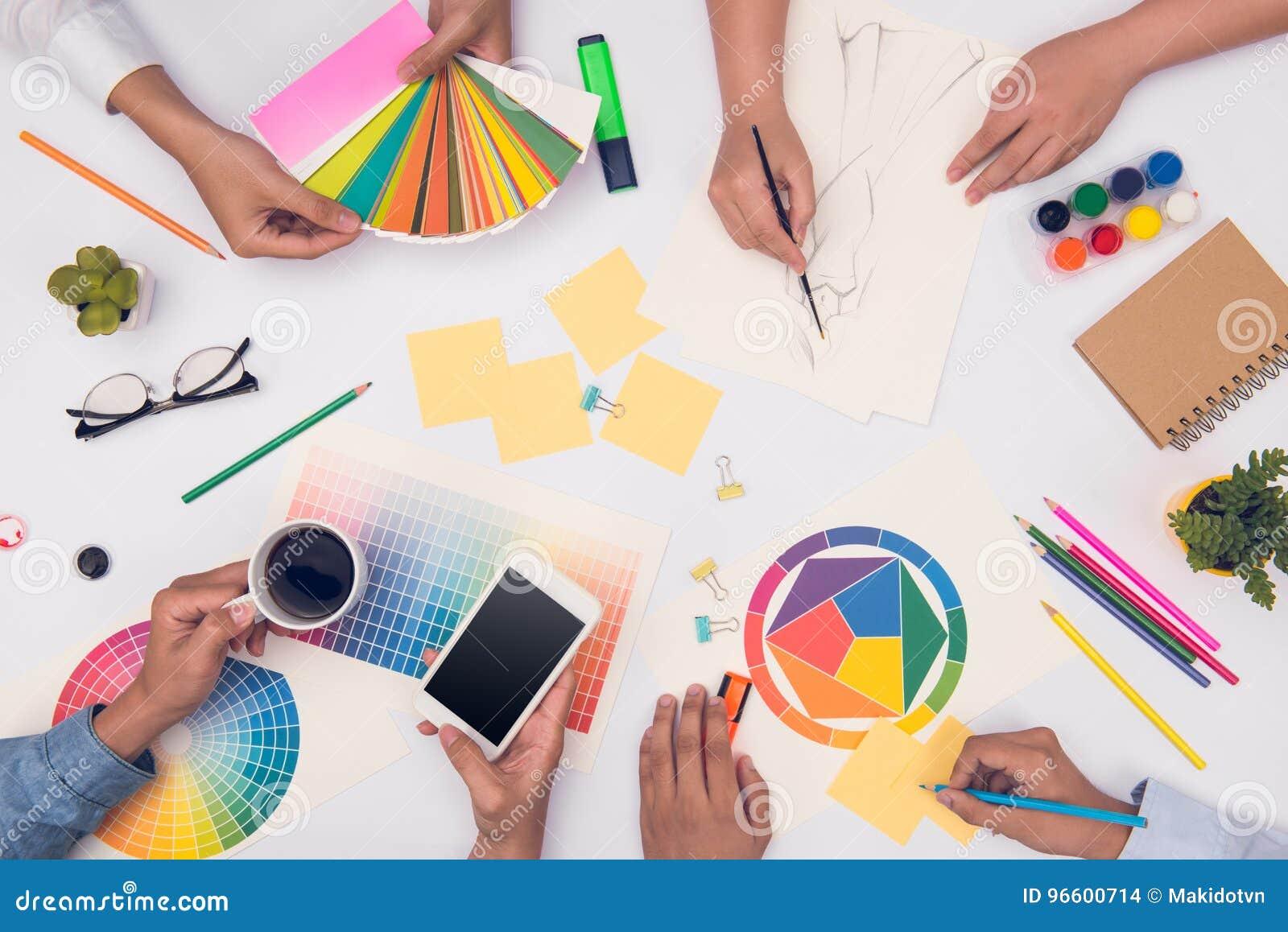 Konzept der Designerteamwork-Brainstormingplanungssitzung