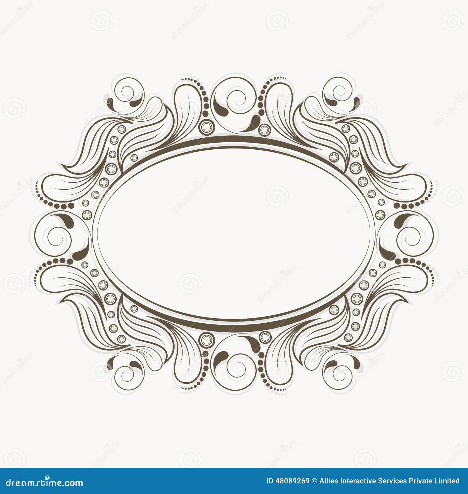 Beste Oval Verzierter Rahmen Zeitgenössisch - Rahmen Ideen ...