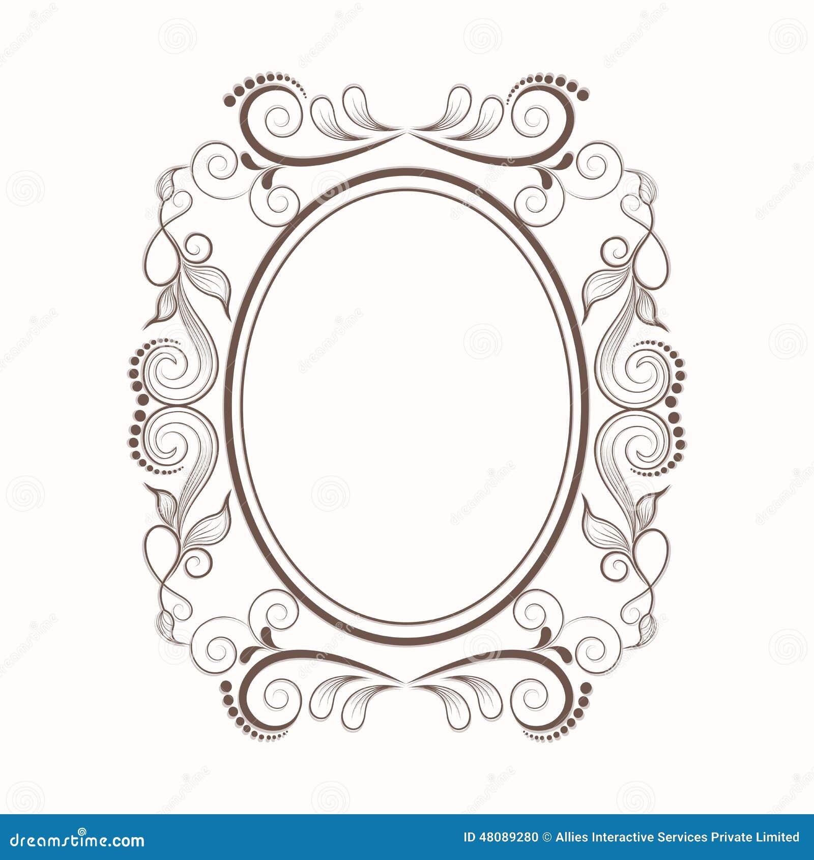 Konzept Des Blumenmusters Verzierte Rahmen Stock Abbildung ...