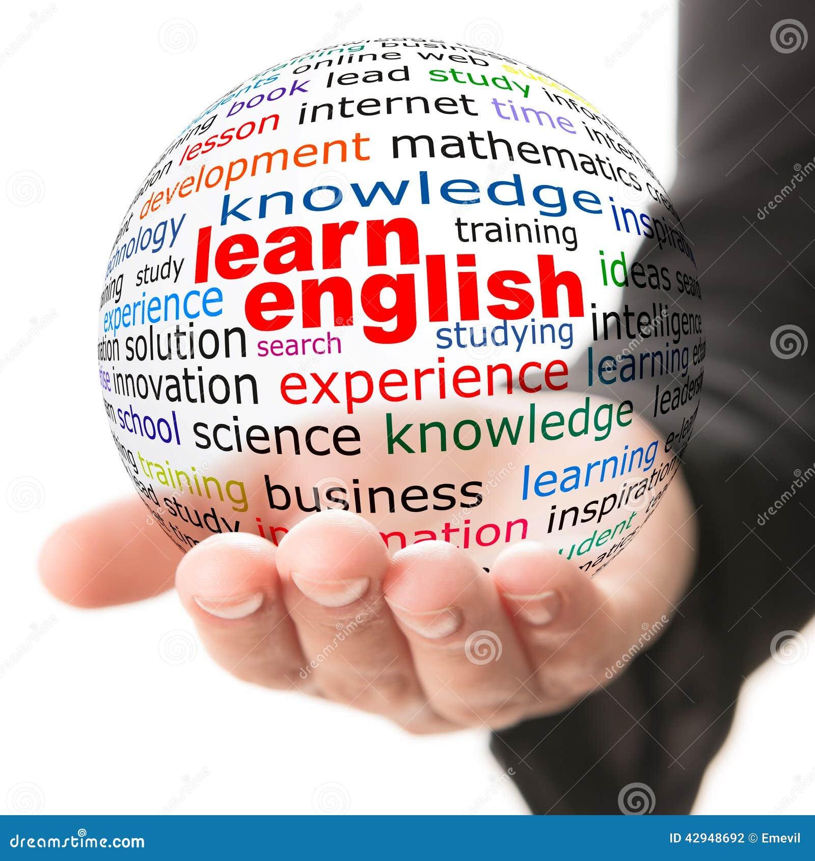 Konzept des Lernens von Englisch