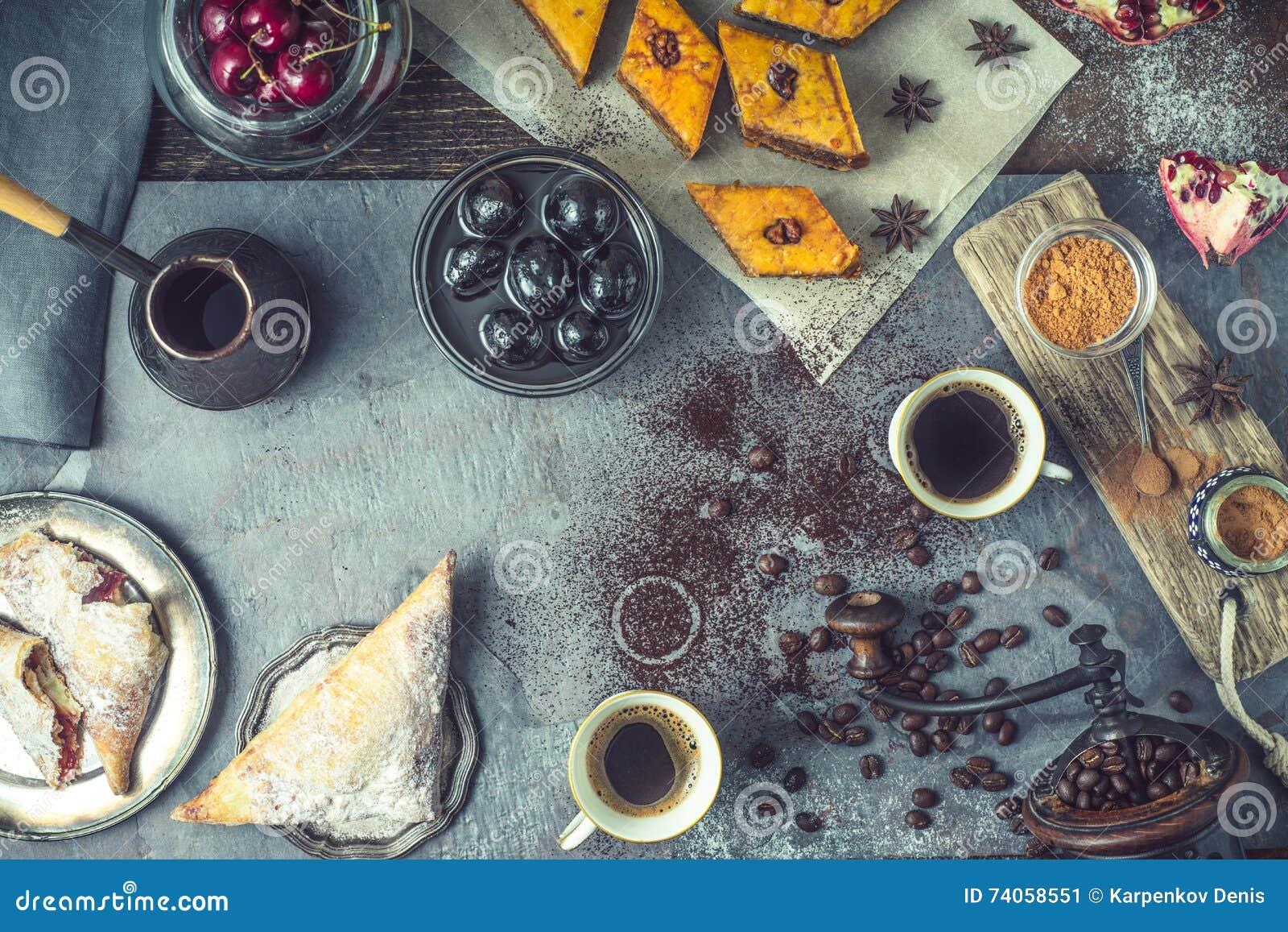 Konzept des orientalischen Nachtischs horizontal