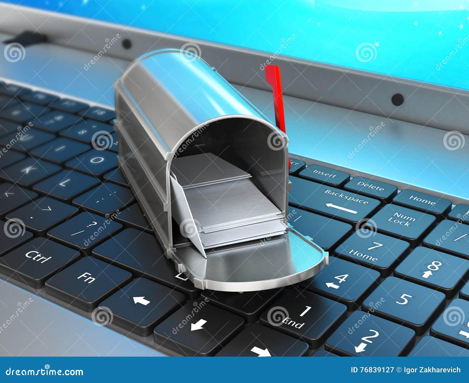 Konzept des Sendens und des Empfangens von E-Mail von