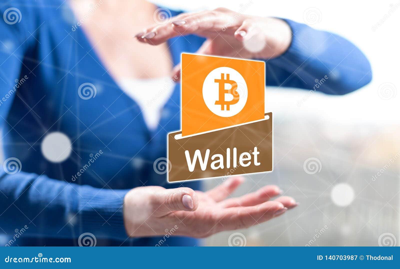 Konzept von bitcoin Geldbörse