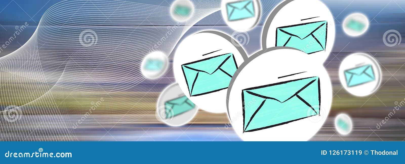 Konzept von E-Mail
