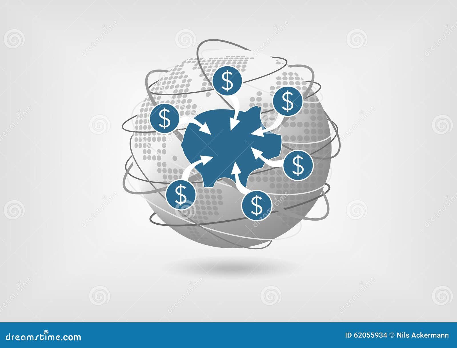 Konzept, zum des Geldes vom Sparkonto in der globalen Wirtschaft zurückzunehmen
