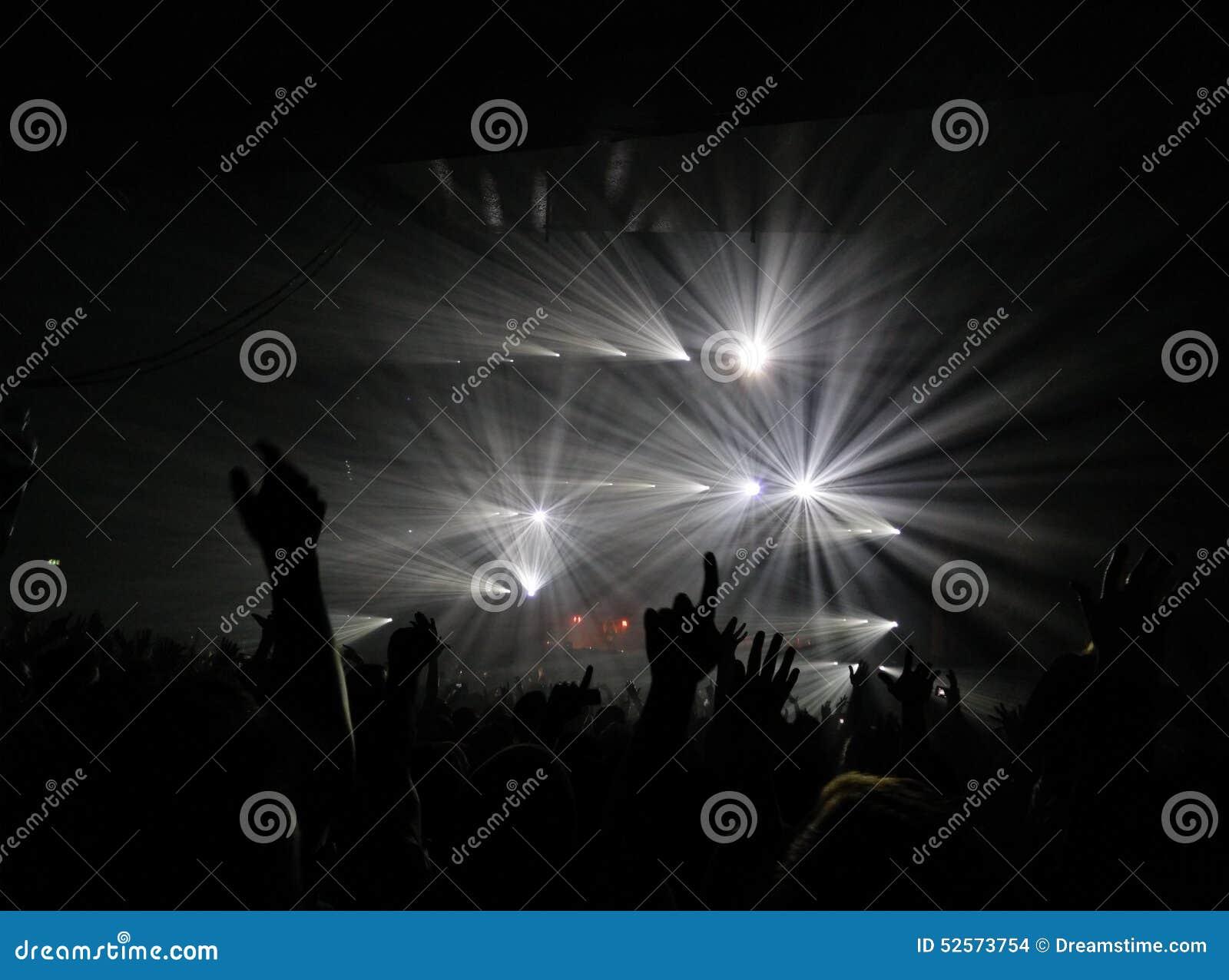 Konzertlicht-Spaßtanz