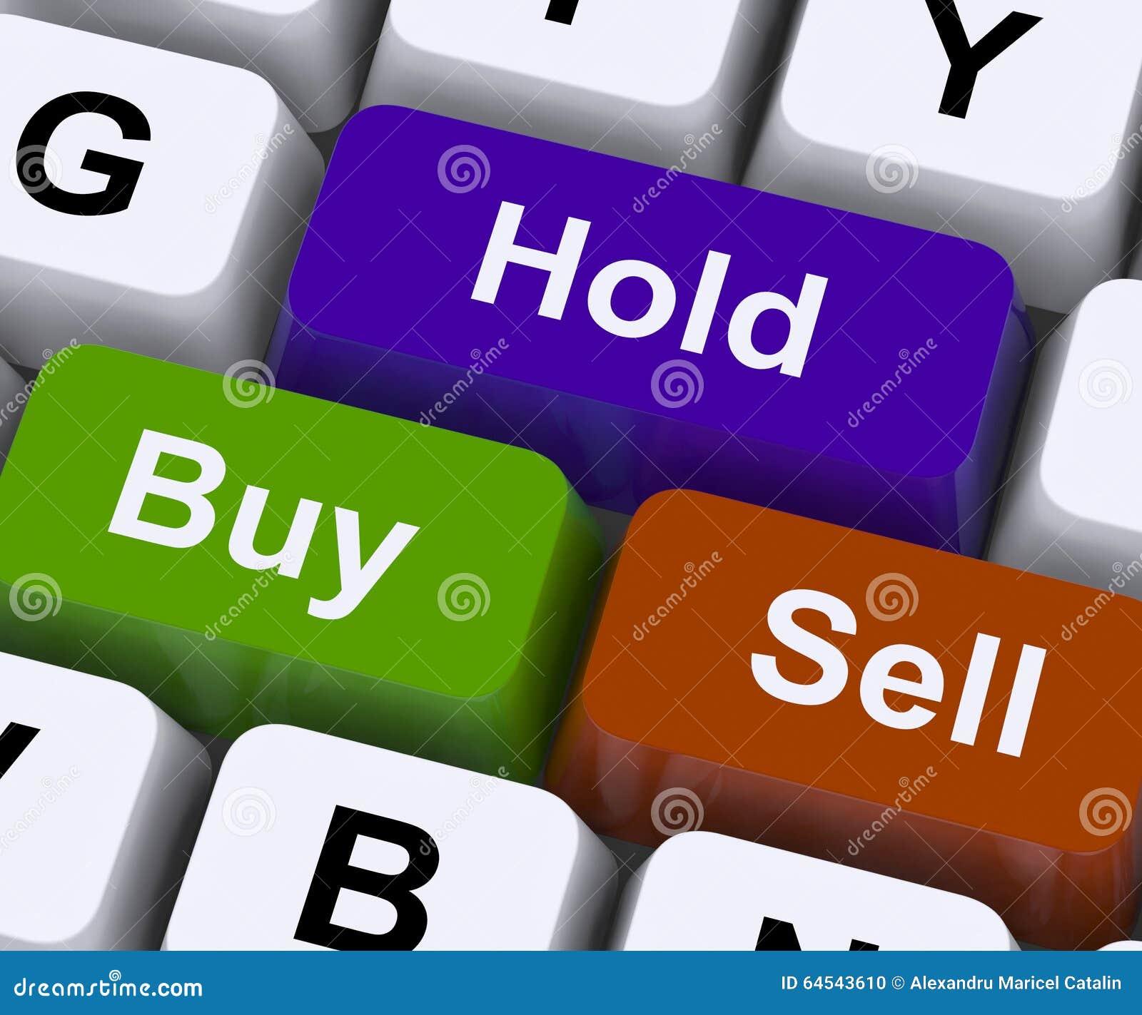 Koop Greep en verkoop Sleutels vertegenwoordigen Marktstrategie