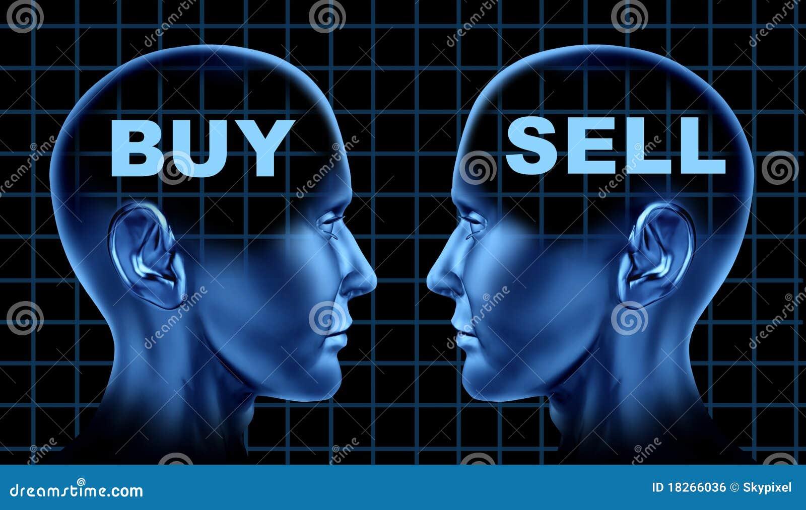 Koop-verkoop voorraden bedrijfs financiële markt