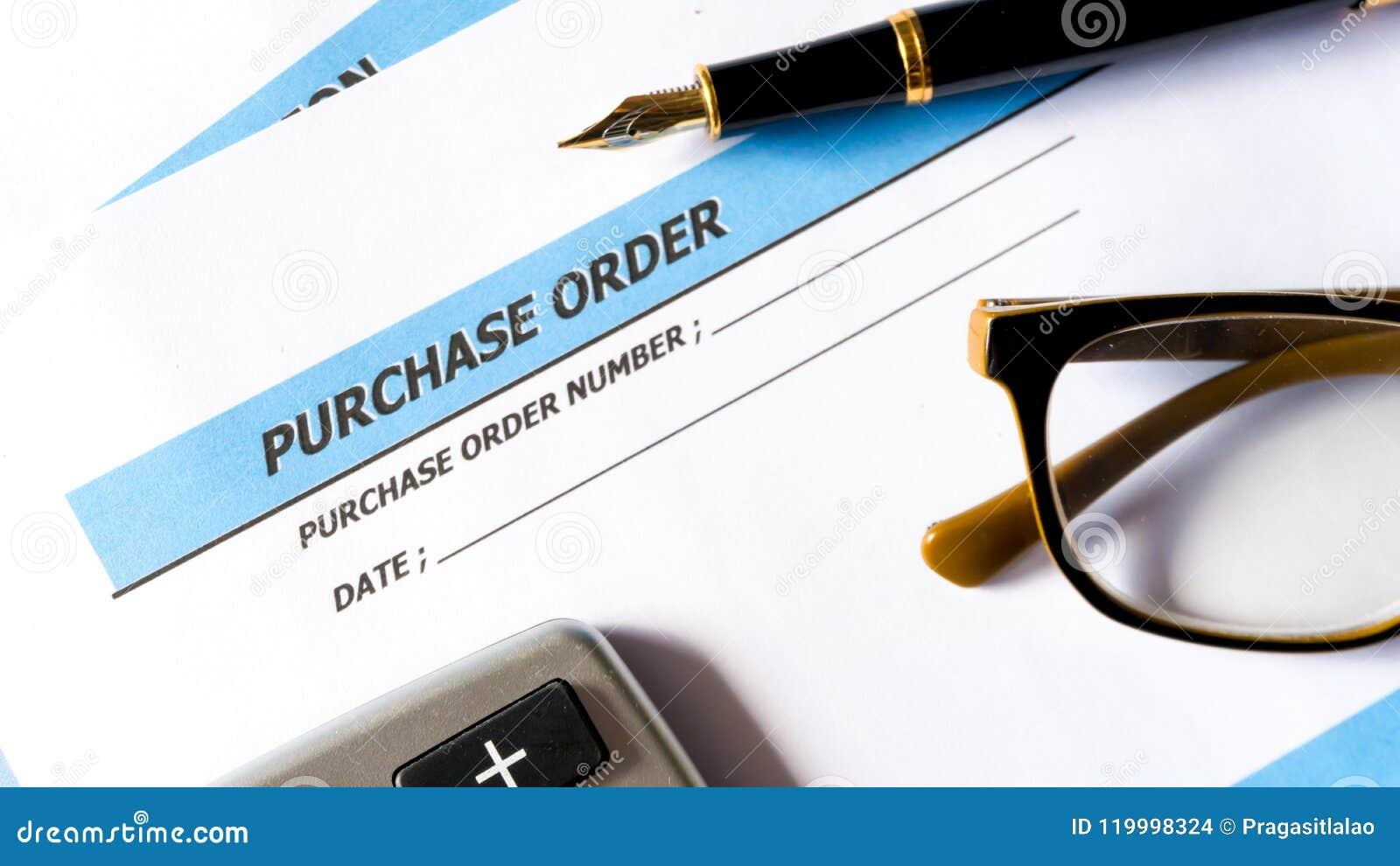 Kooporder voor het document van de verwervingsorde van zaken