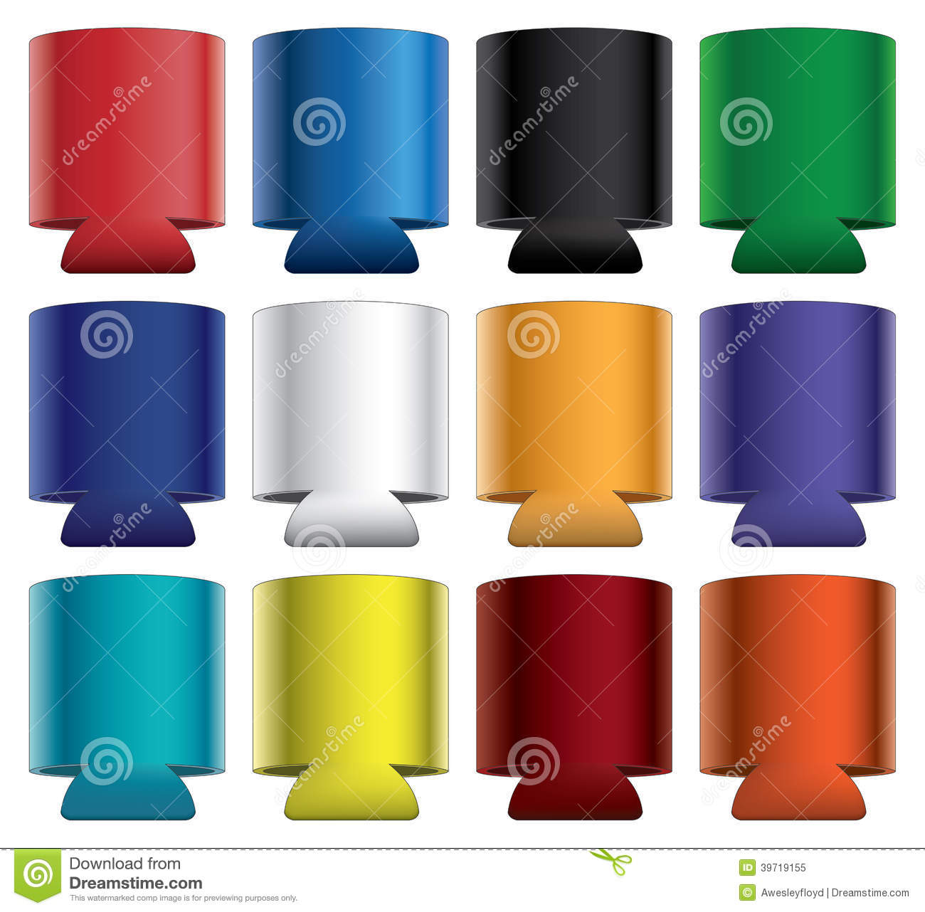 Koozies Collapsible Stock Vector Image 39719155