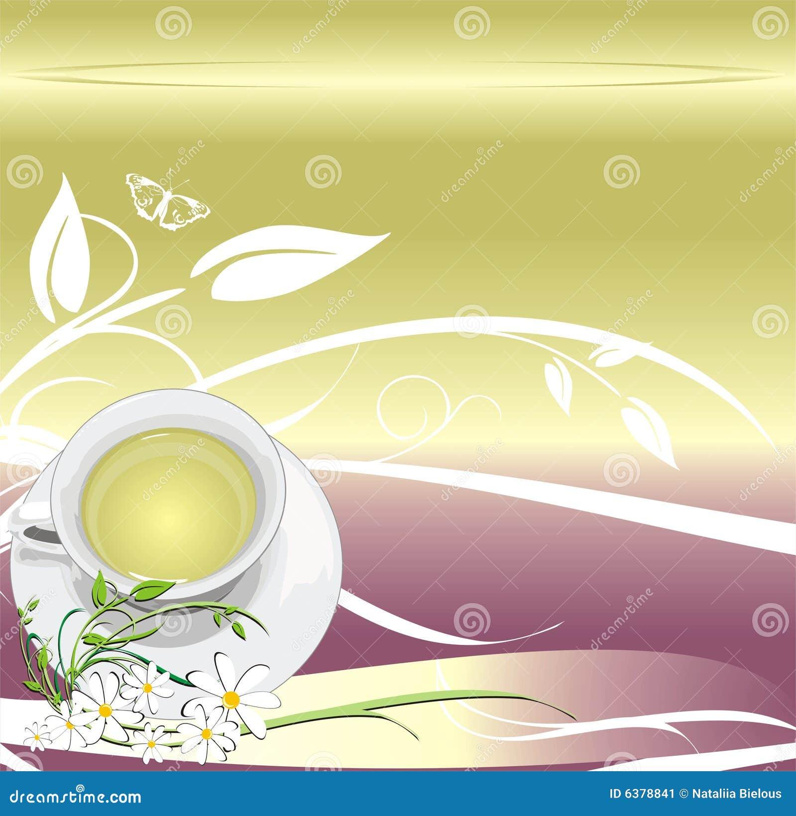 Kop met thee. Abstracte achtergrond voor het verpakken
