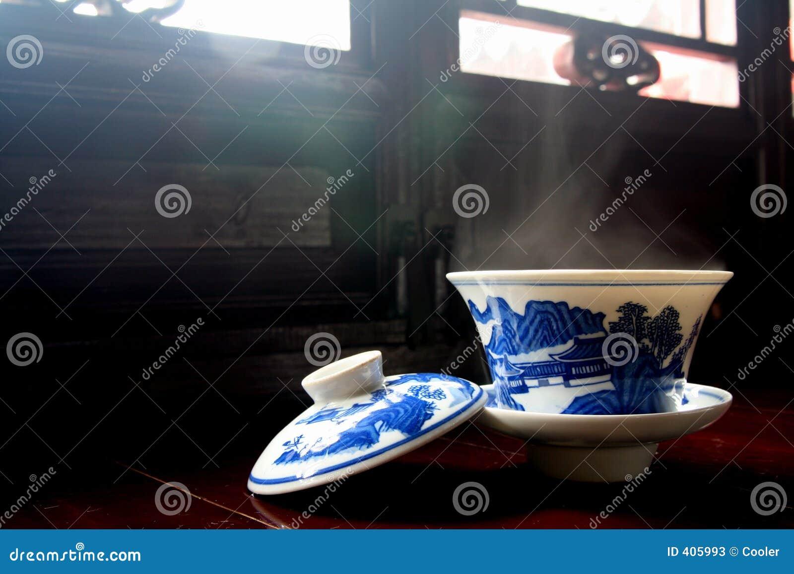 Kop thee met een deksel