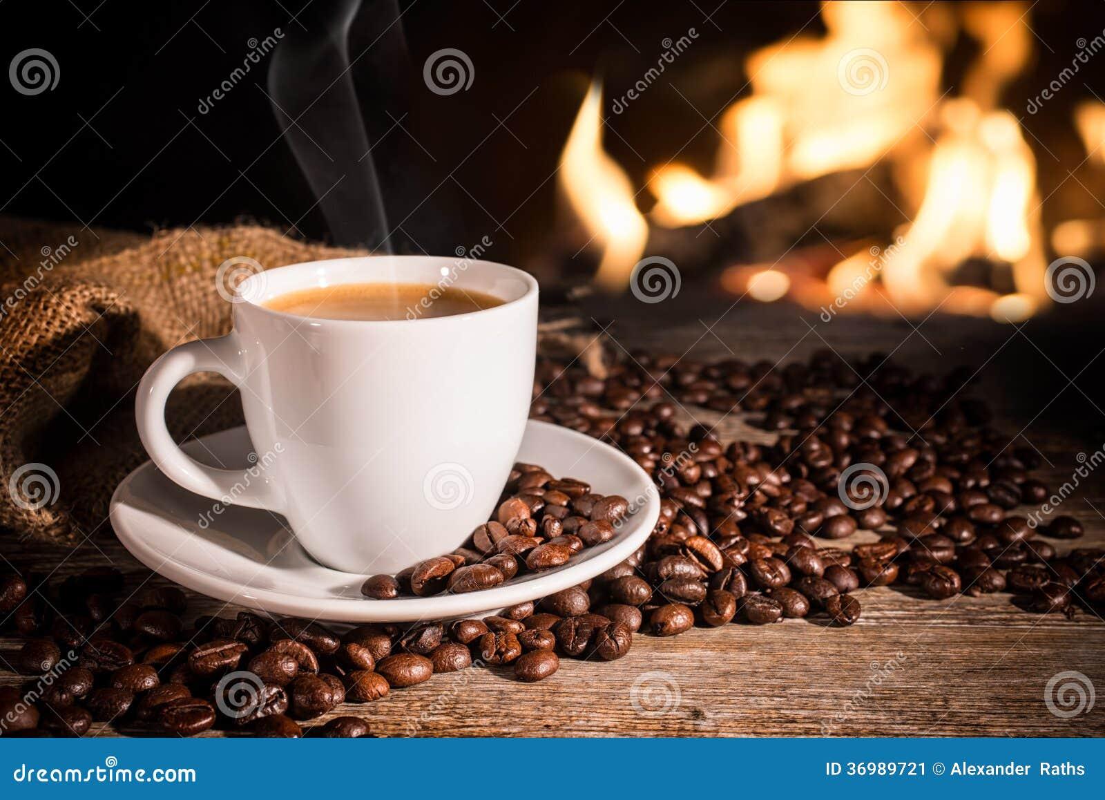 Kop van hete koffie