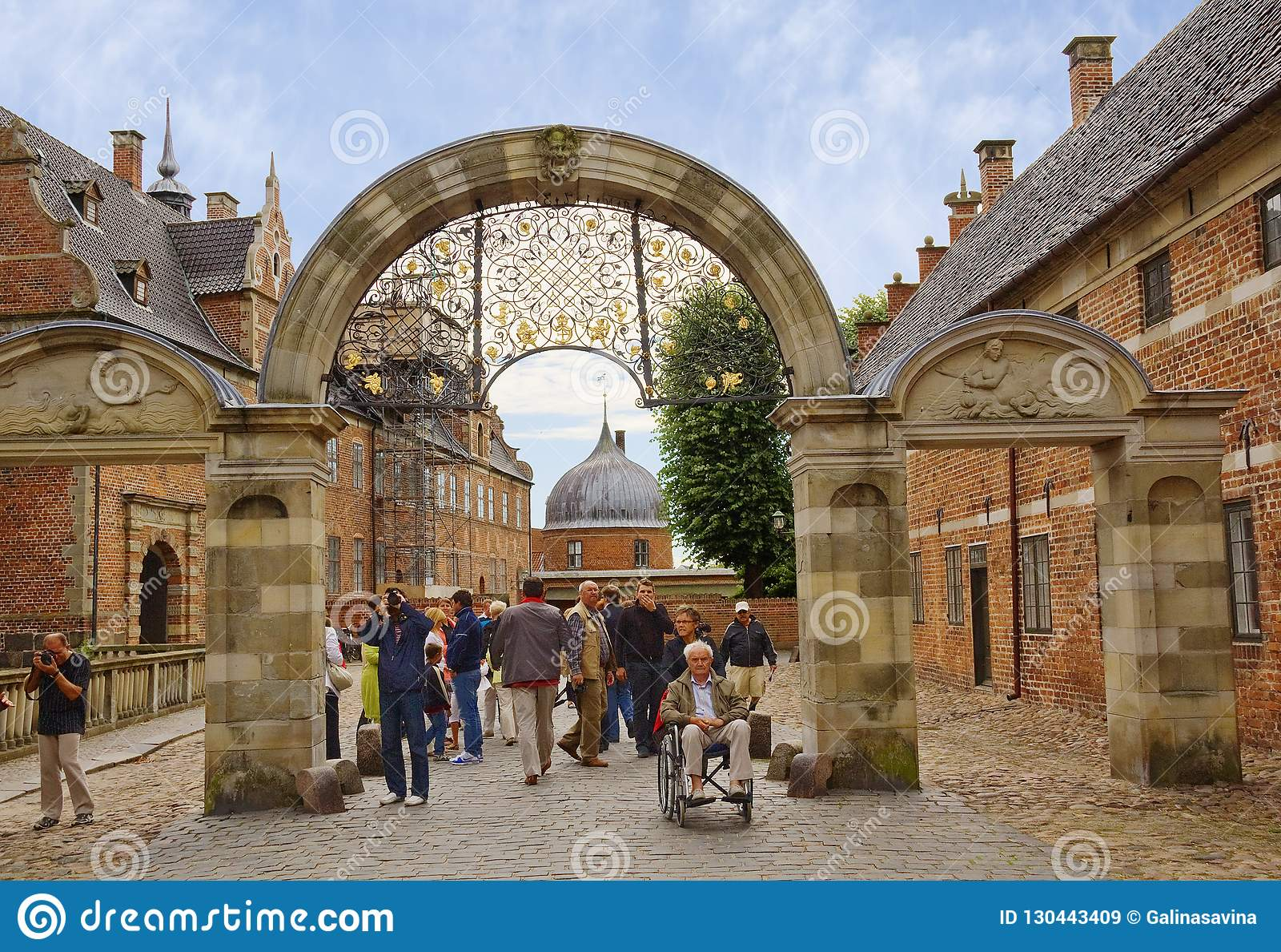 Kopenhagen Dänemark Dargestellter Bogen In Frederiksborg Schloss
