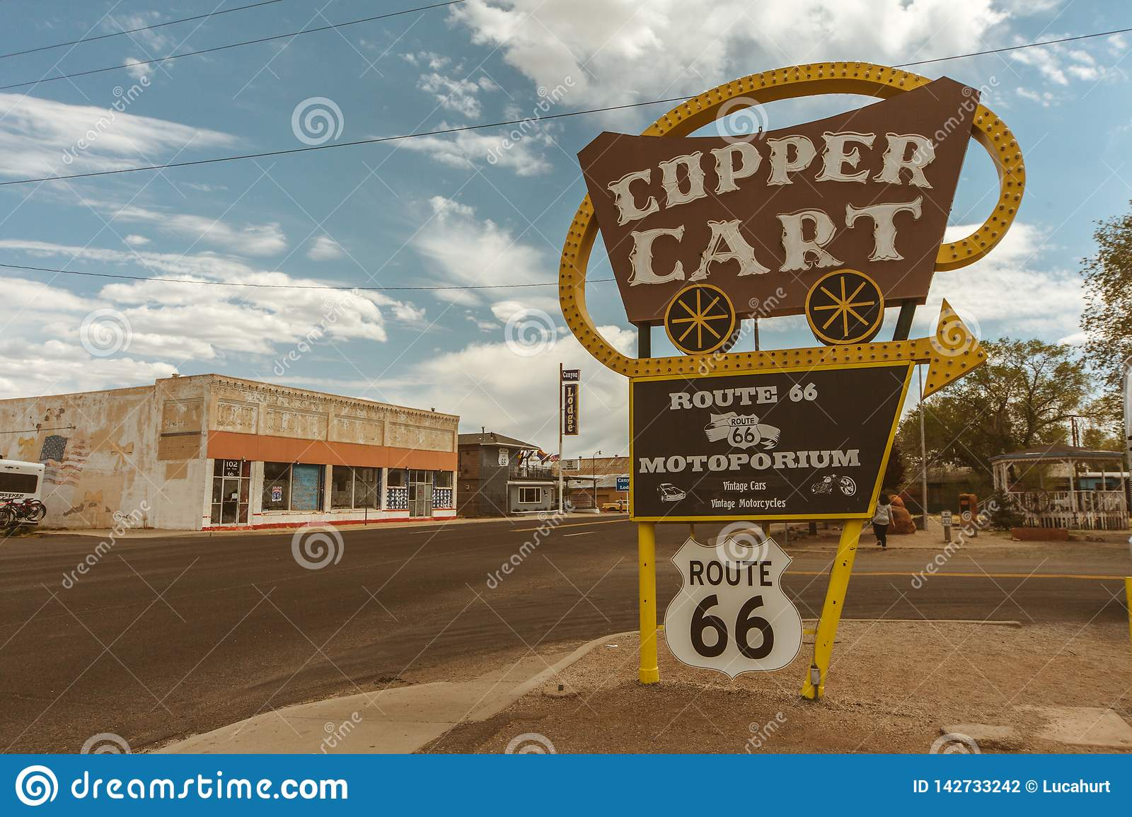 Koperkar - Route 66 Arizona - de V.S.