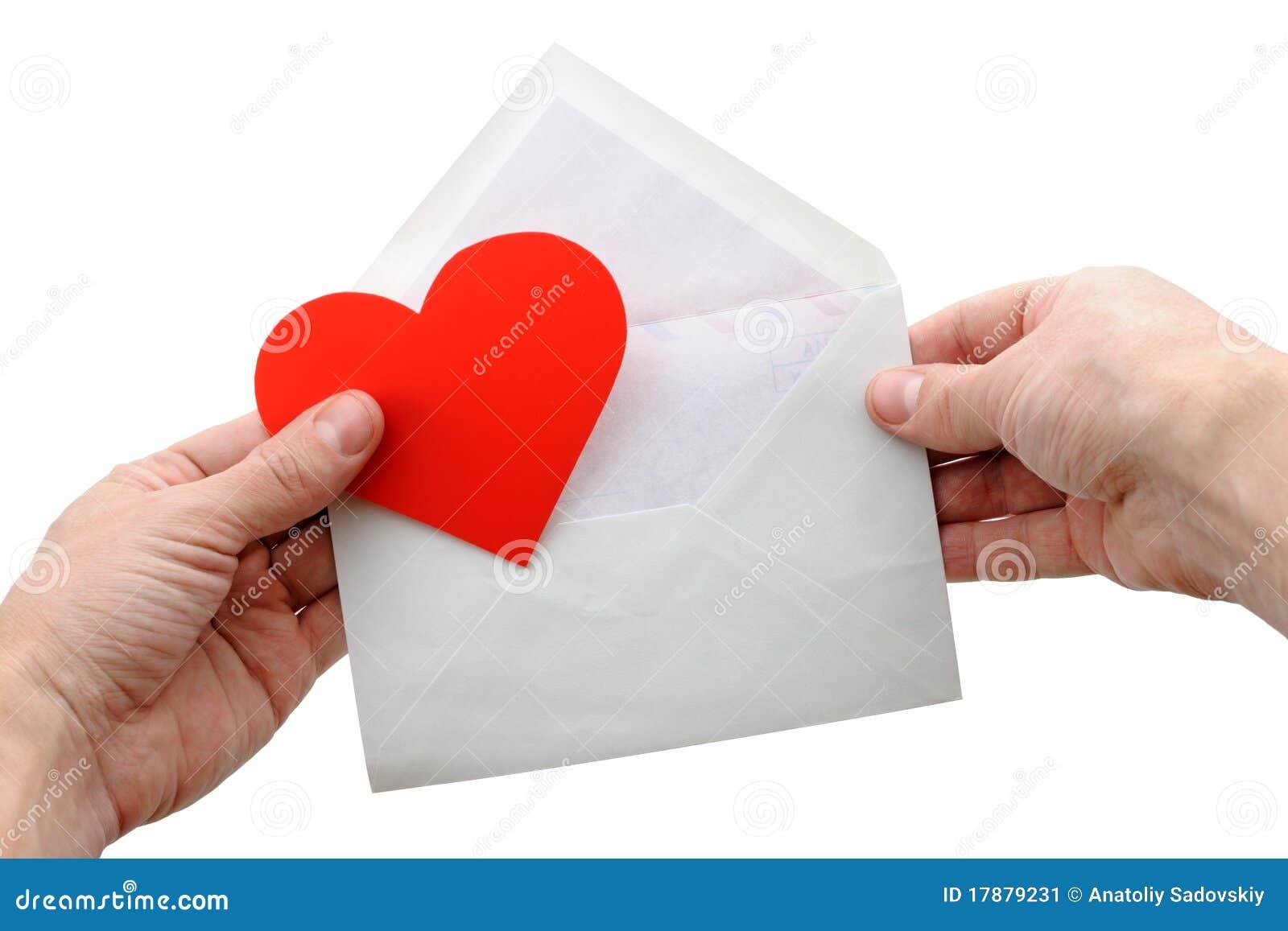 Koperta wręcza kierowego valentine