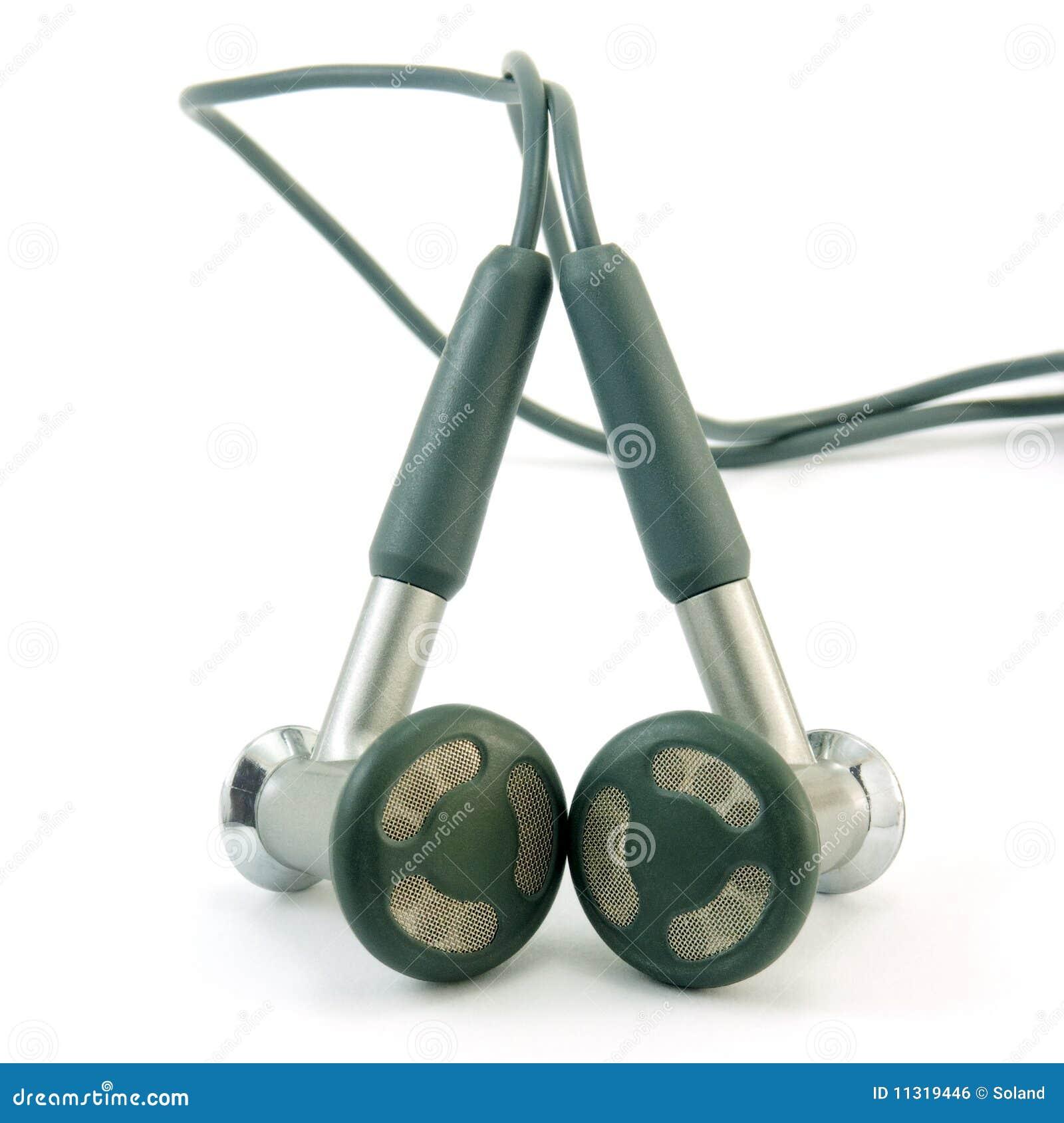 Kopfhörer getrennt auf einem Weiß