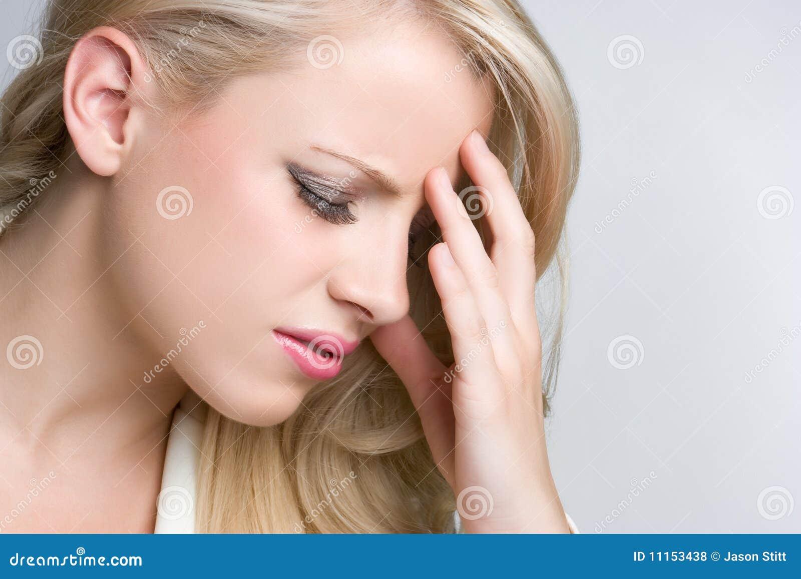 Kopfschmerzen-Frau