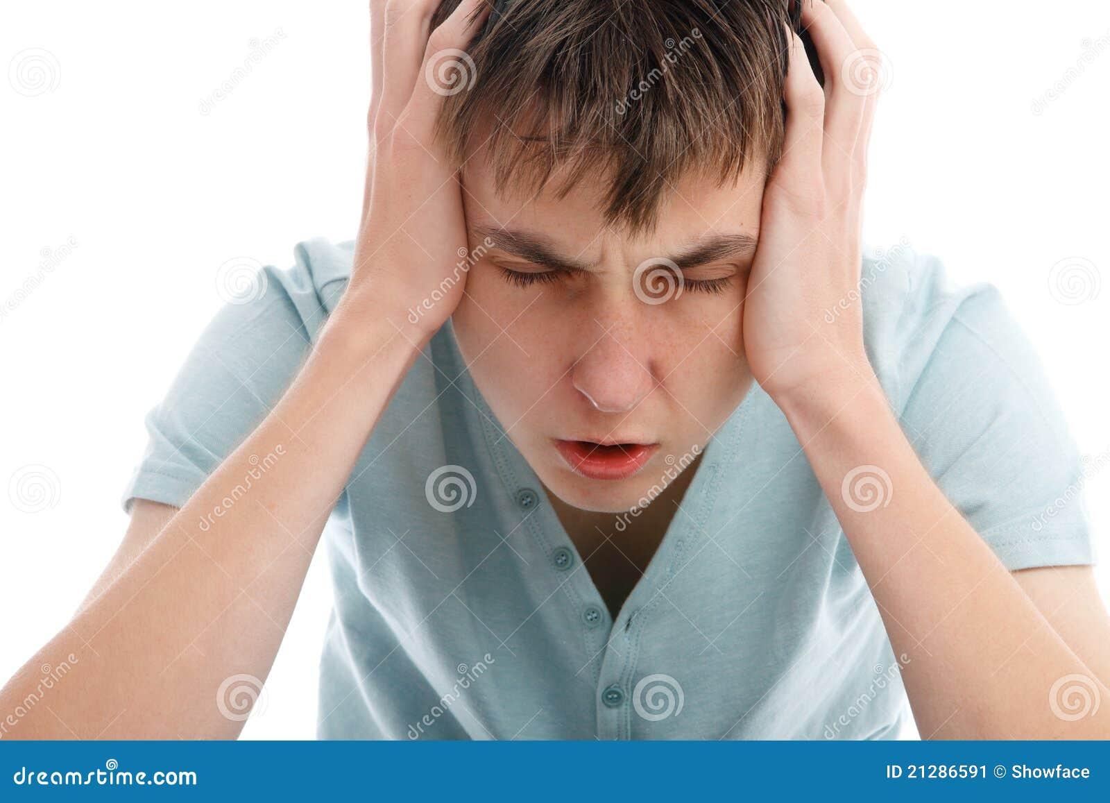 Kopfschmerzen migrain Schmerz-Angst oder -druck
