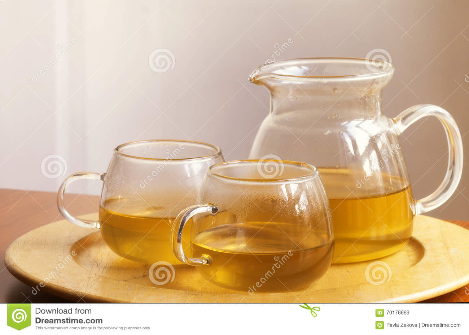 Kopp te och tekanna