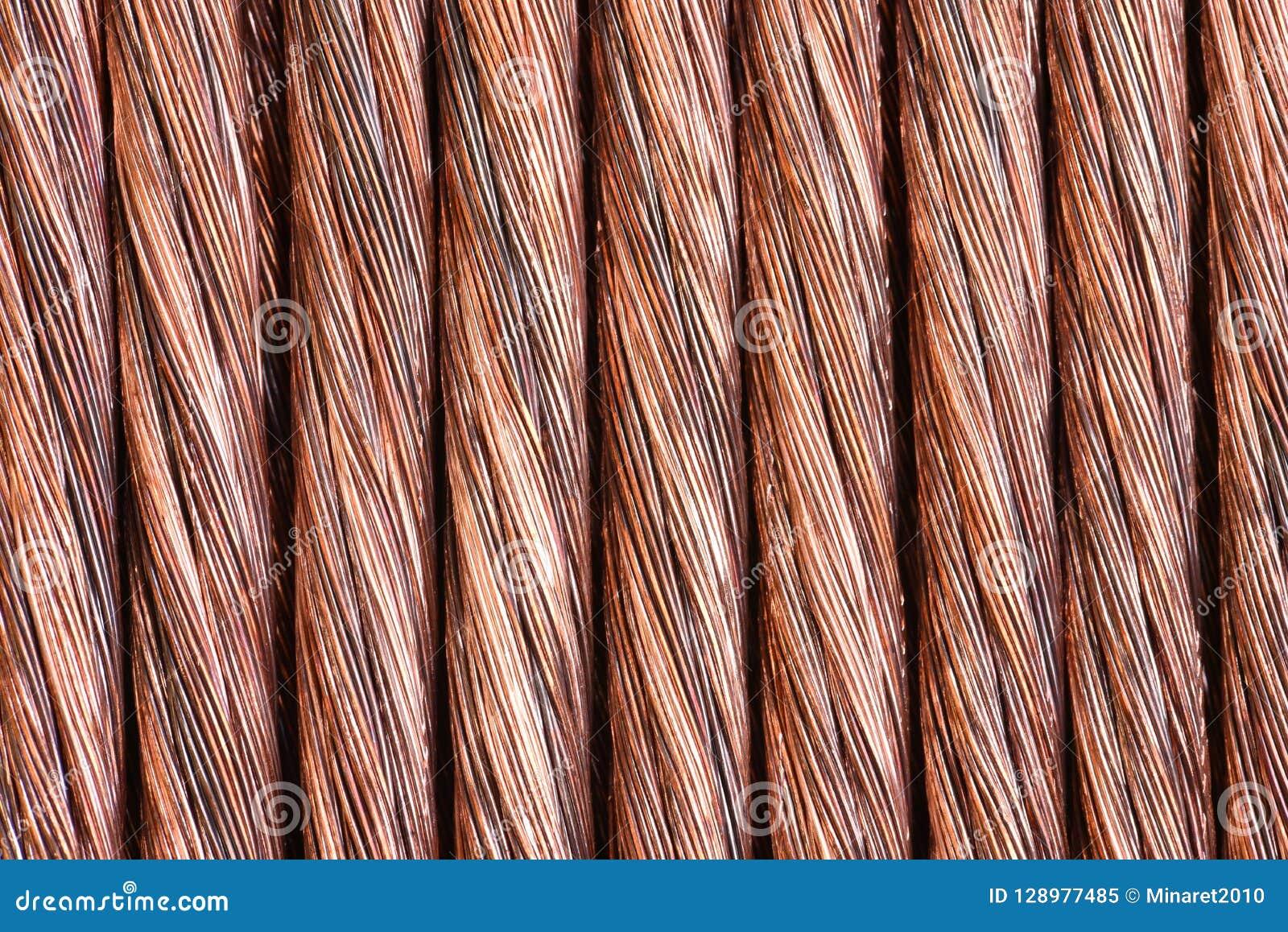 Koppartråd som industriell bakgrund