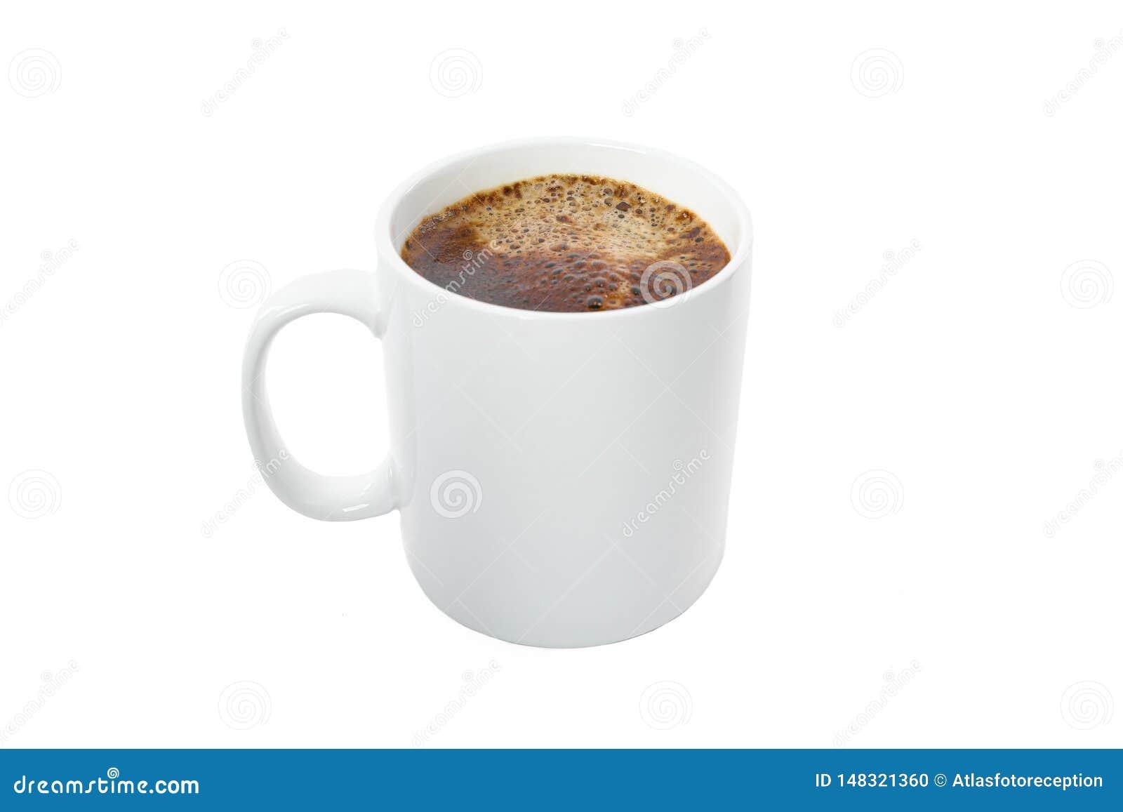 Koppen f?r bakgrundsclippingkaffe har isolerat banawhite