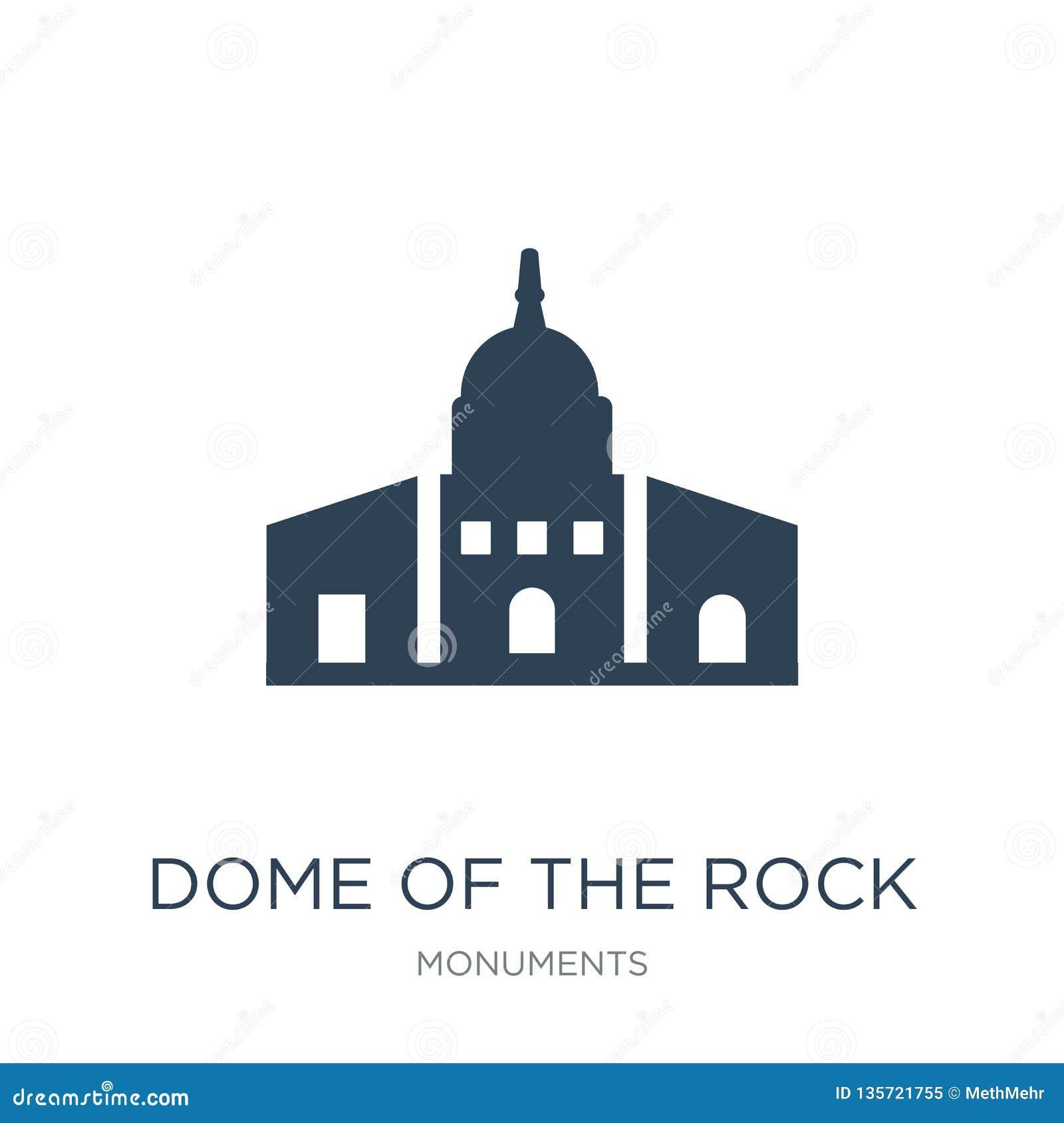 Kopuła rockowa ikona w modnym projekta stylu kopuła rockowa ikona odizolowywająca na białym tle kopuła rockowa wektorowa ikona