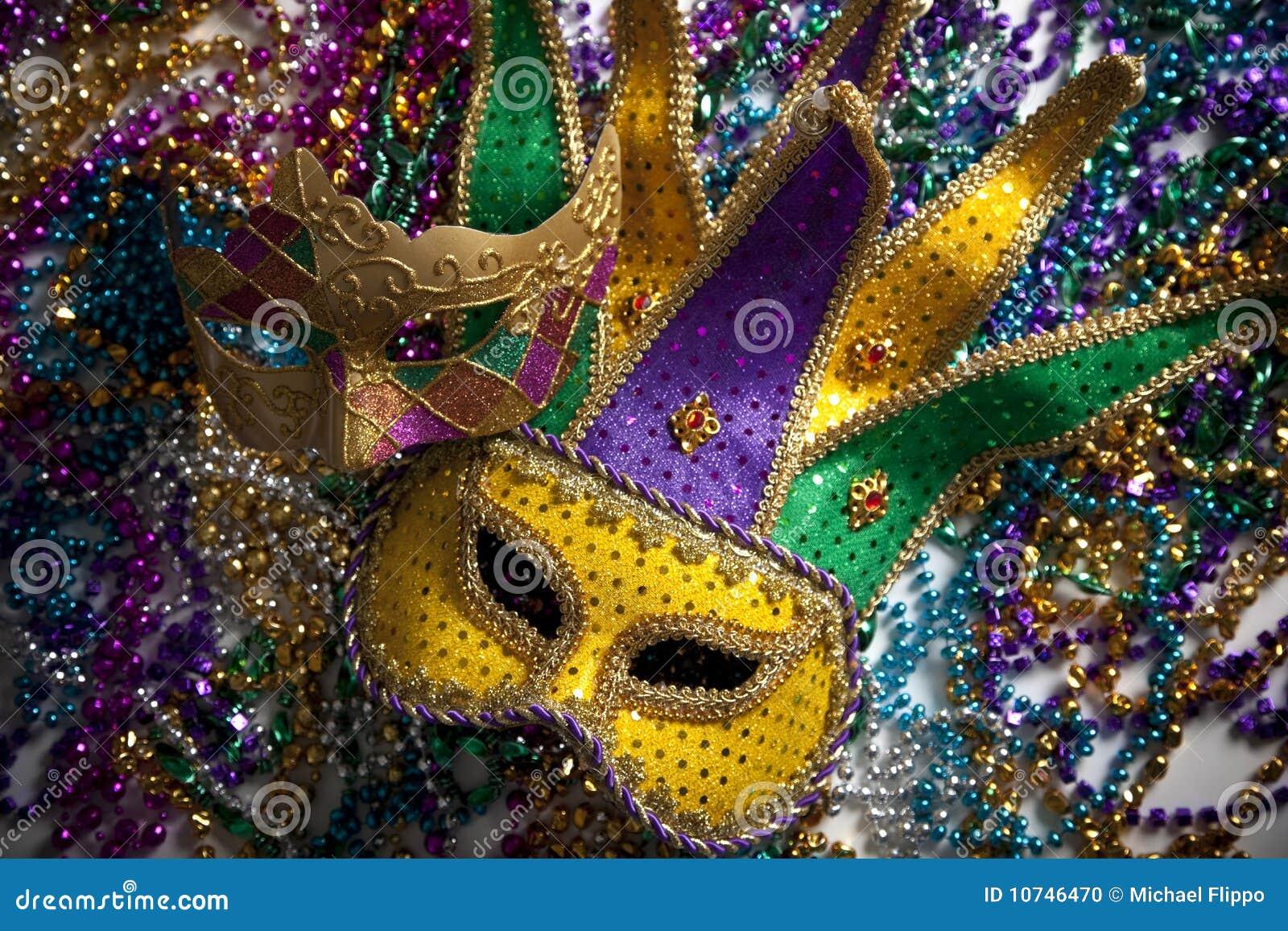 Koralików gras mardi maska