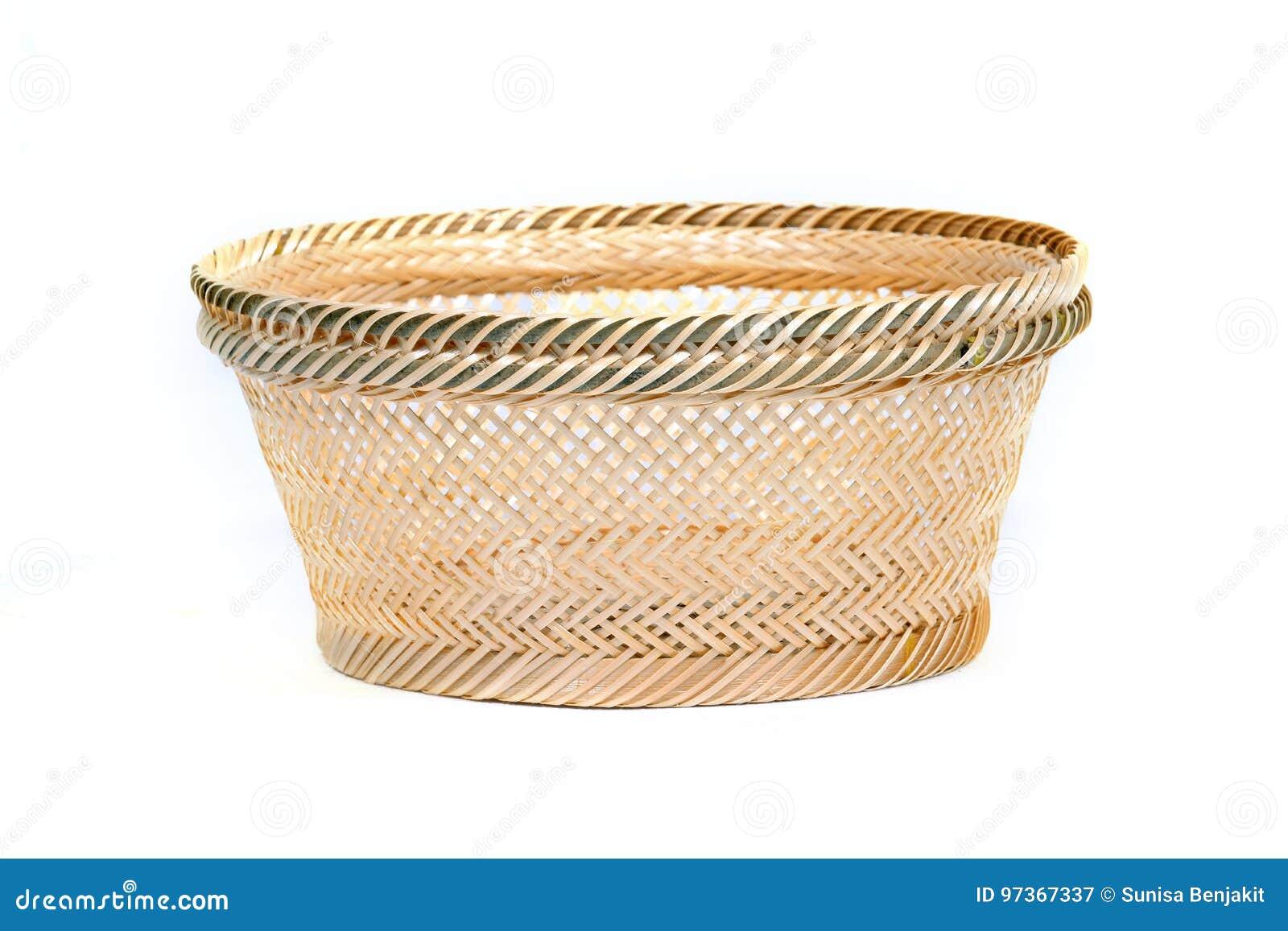 Korb Gebildet Vom Bambus Stockbild Bild Von Rund Nave 97367337