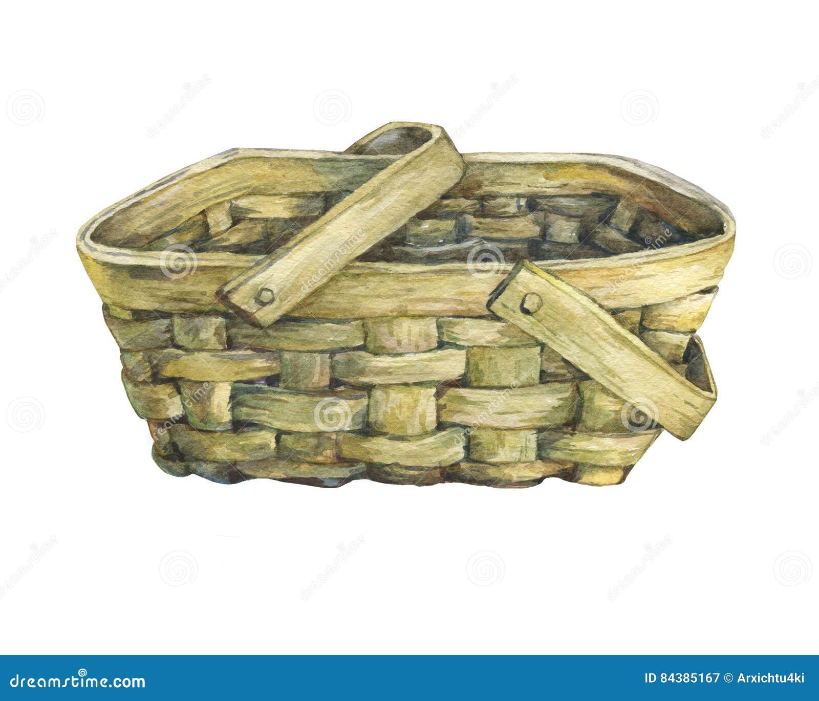 korb geflocht vom holz stock abbildung illustration von hintergrund 84385167. Black Bedroom Furniture Sets. Home Design Ideas