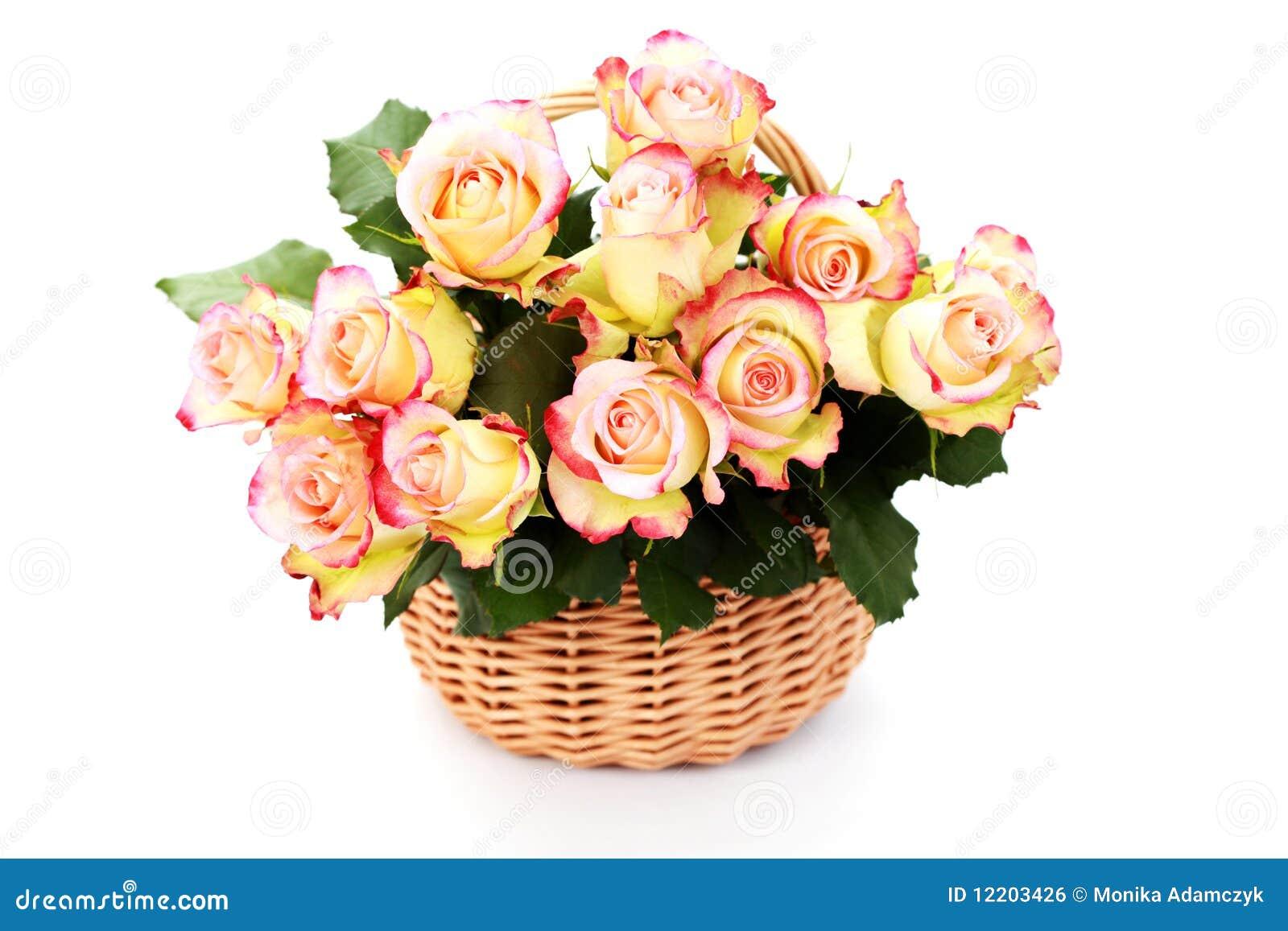 Korb voll der Rosen