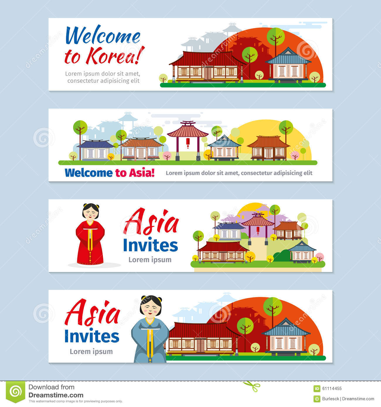 Home Design Company In Thailand Thailand Vector Touristic Banner With Sample Text Vector