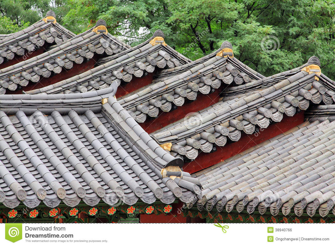Korea Traditional Architecture Roof