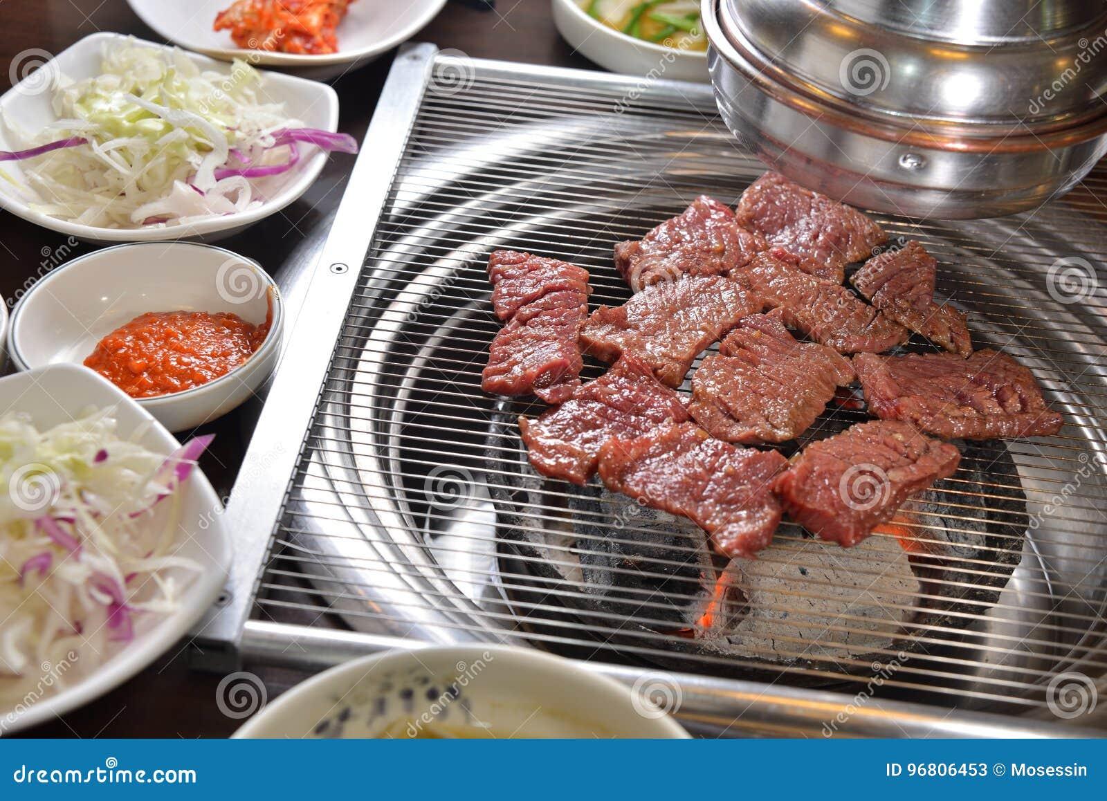 Koreaanse BBQ assorteert vlees