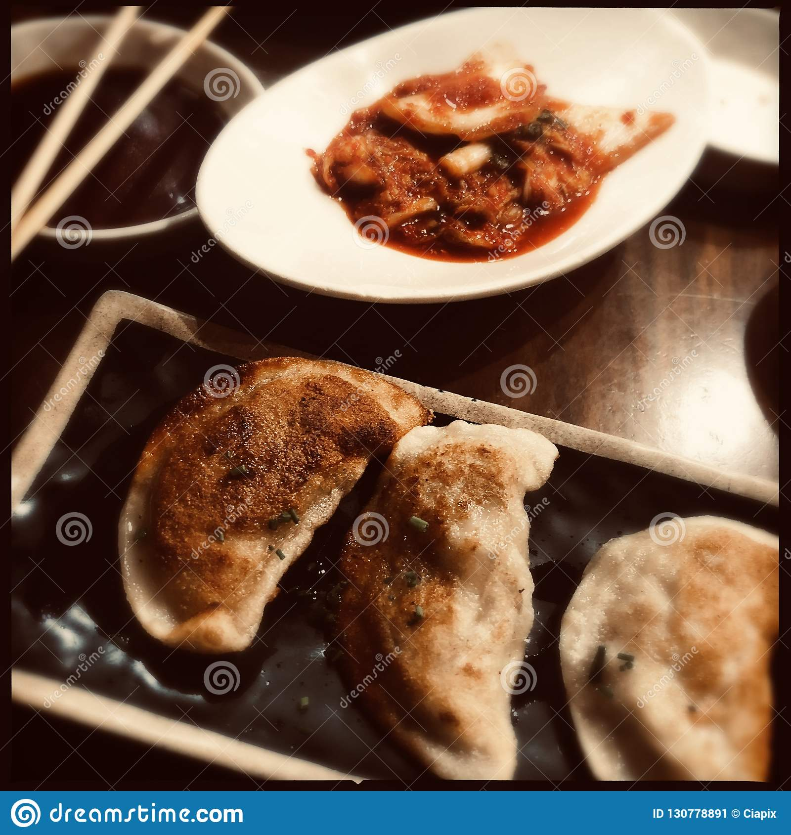 Koreaanse bollen en kimchi