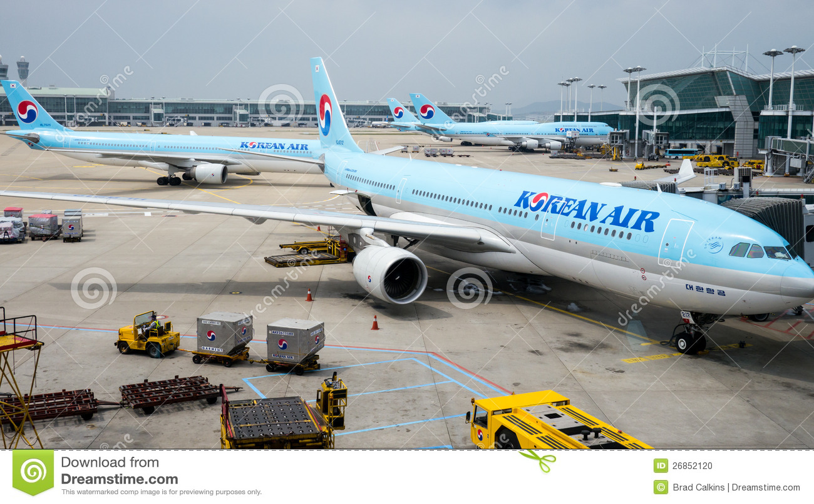 Korean Air nivåer på den Incheon flygplatsen
