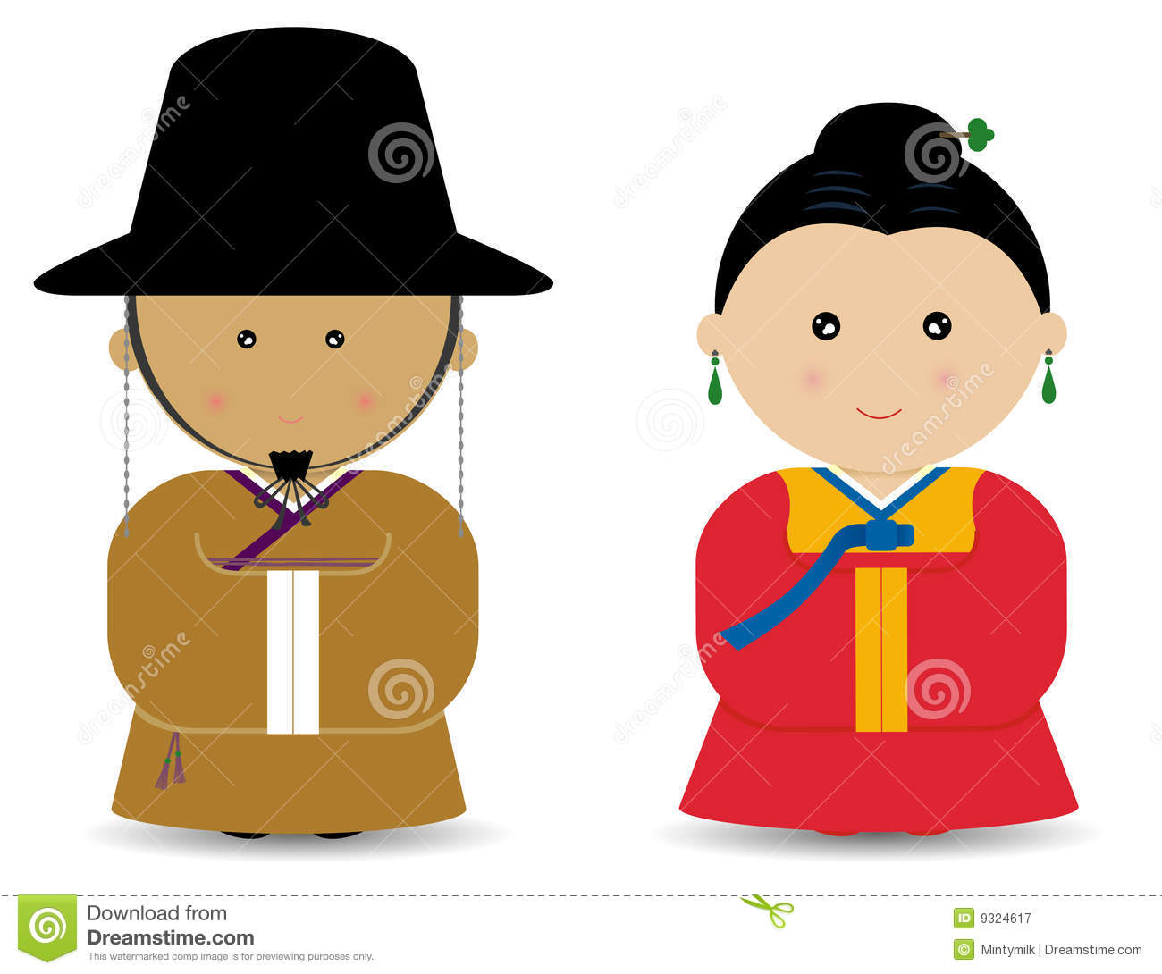 Korean Boy Girl Royalty Free Stock Photography - Image: 9324617