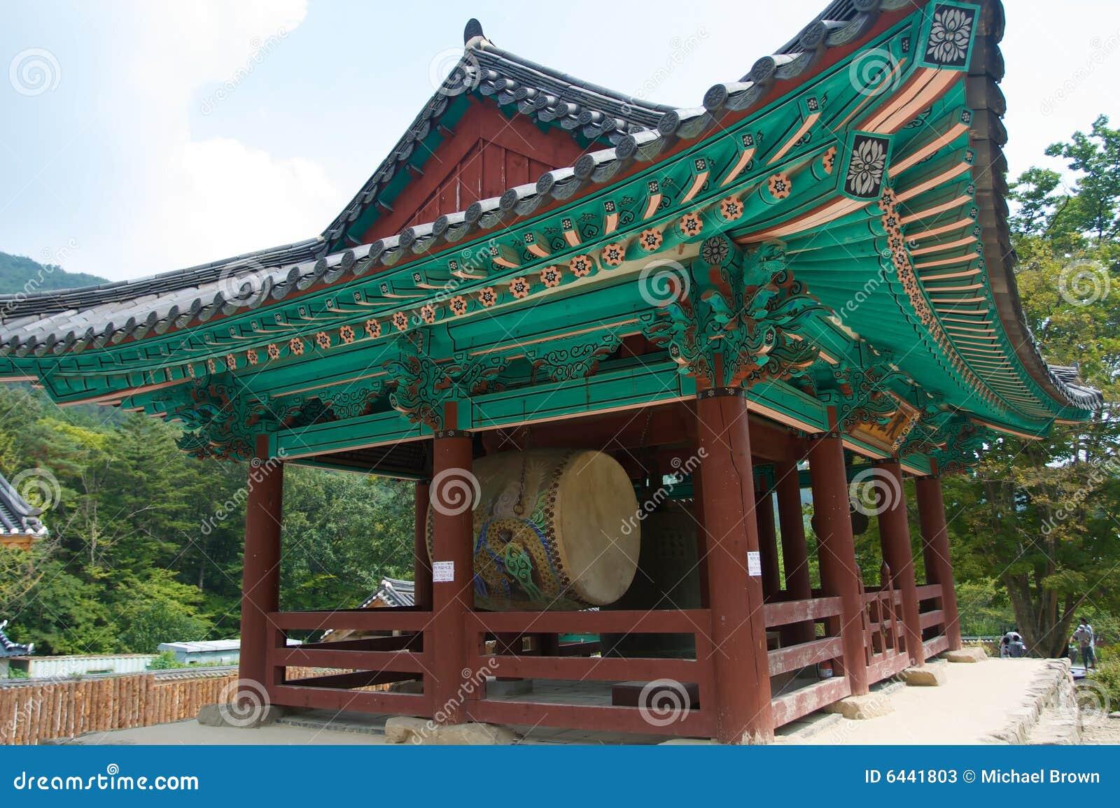 Korean Buddhist Temple Stock Image Image Of Mountains