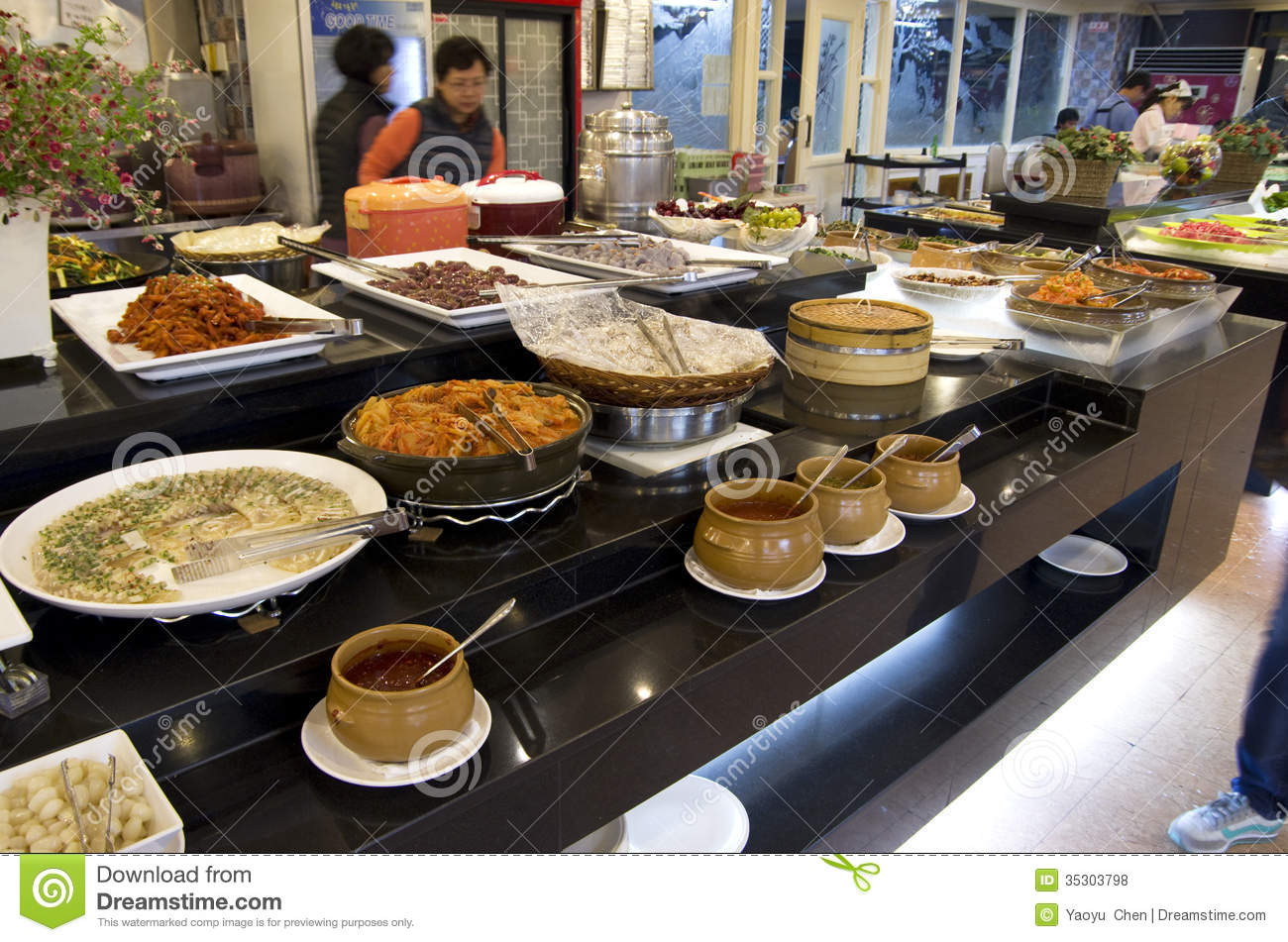 korean buffet restaurant cuisines editorial stock photo image 35303798. Black Bedroom Furniture Sets. Home Design Ideas