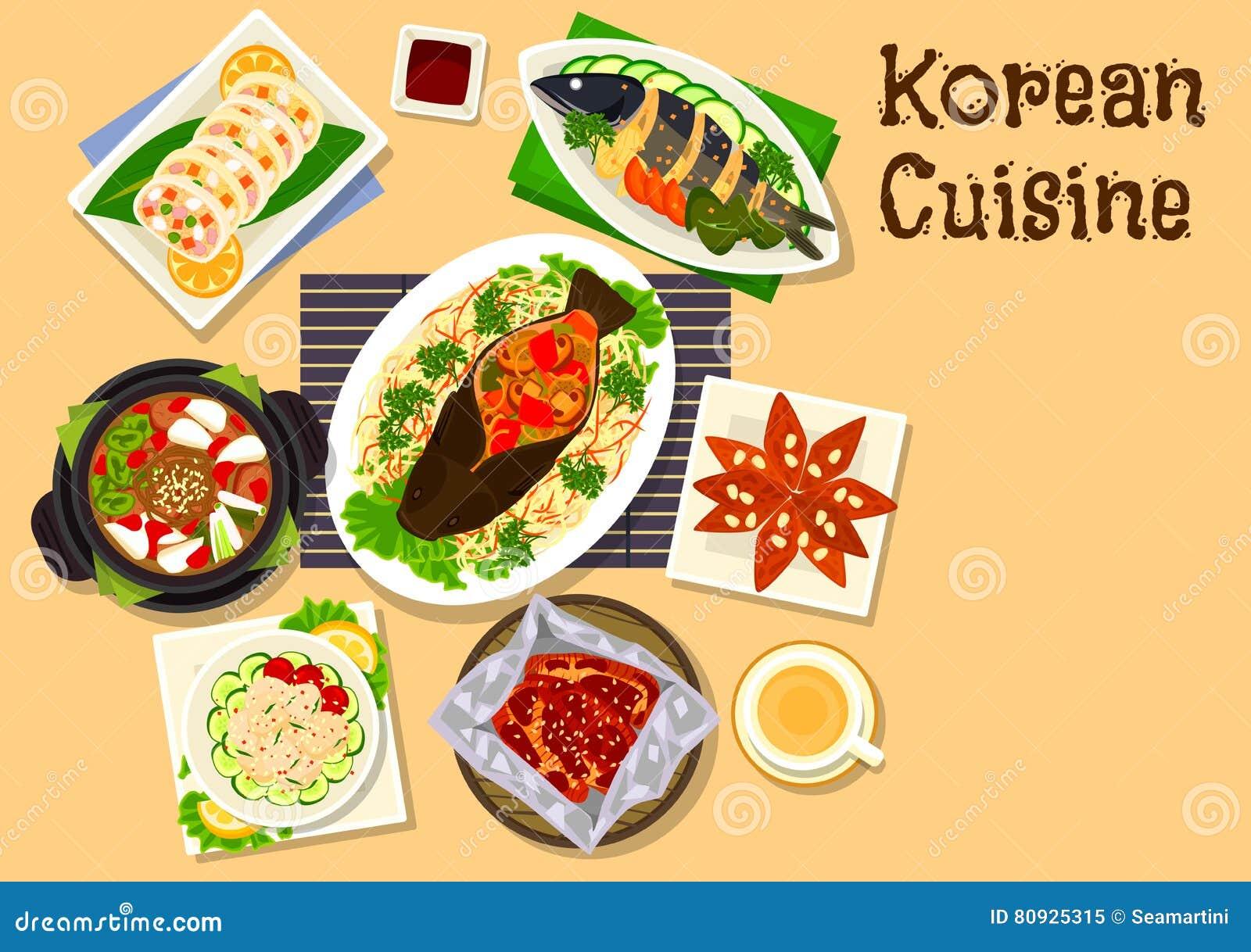 Korean Cuisine Seafood Dinner Dishes ...