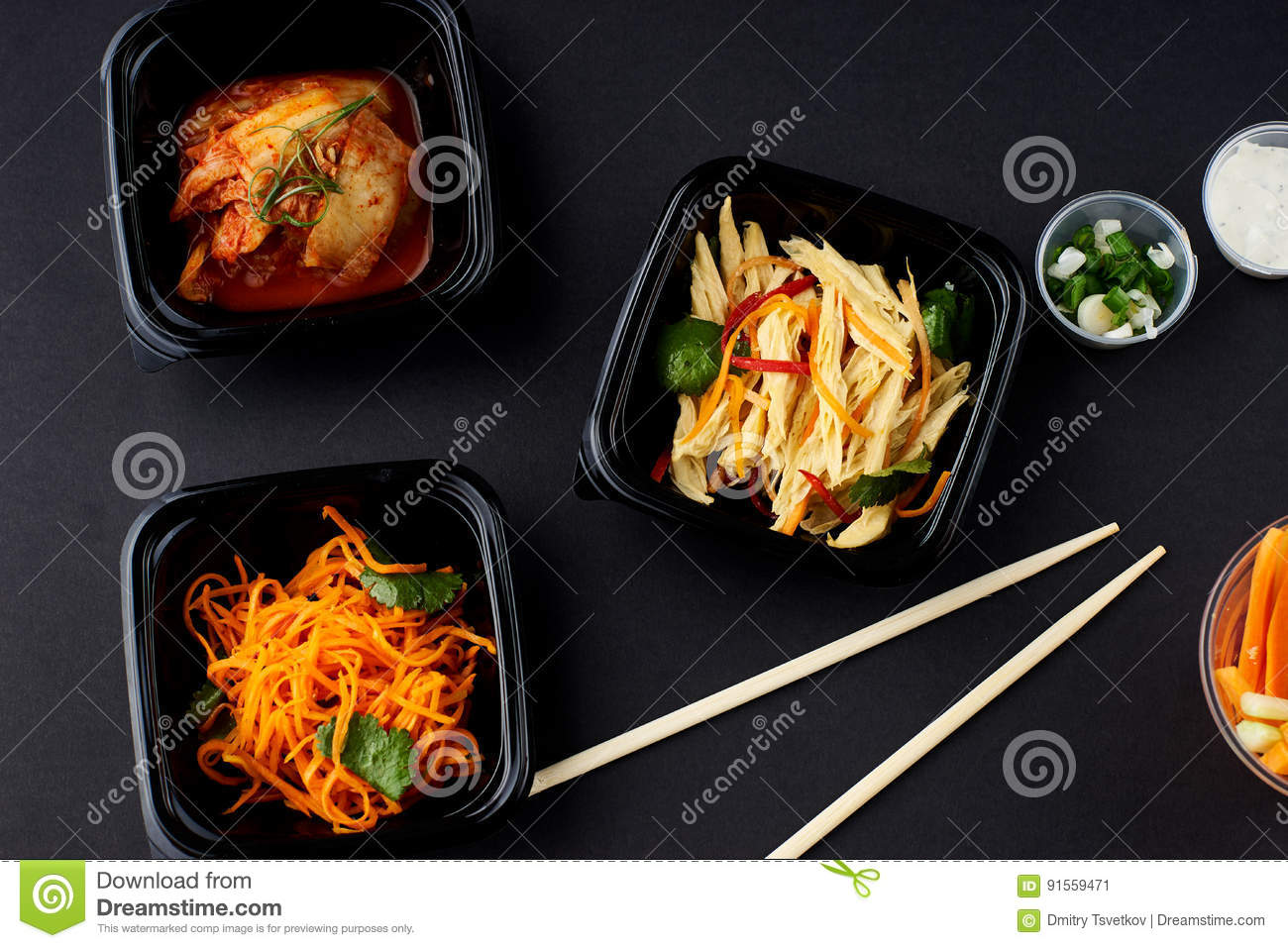 Korean cuisine set of salads stock photo image 91559471 for Cuisine on the green