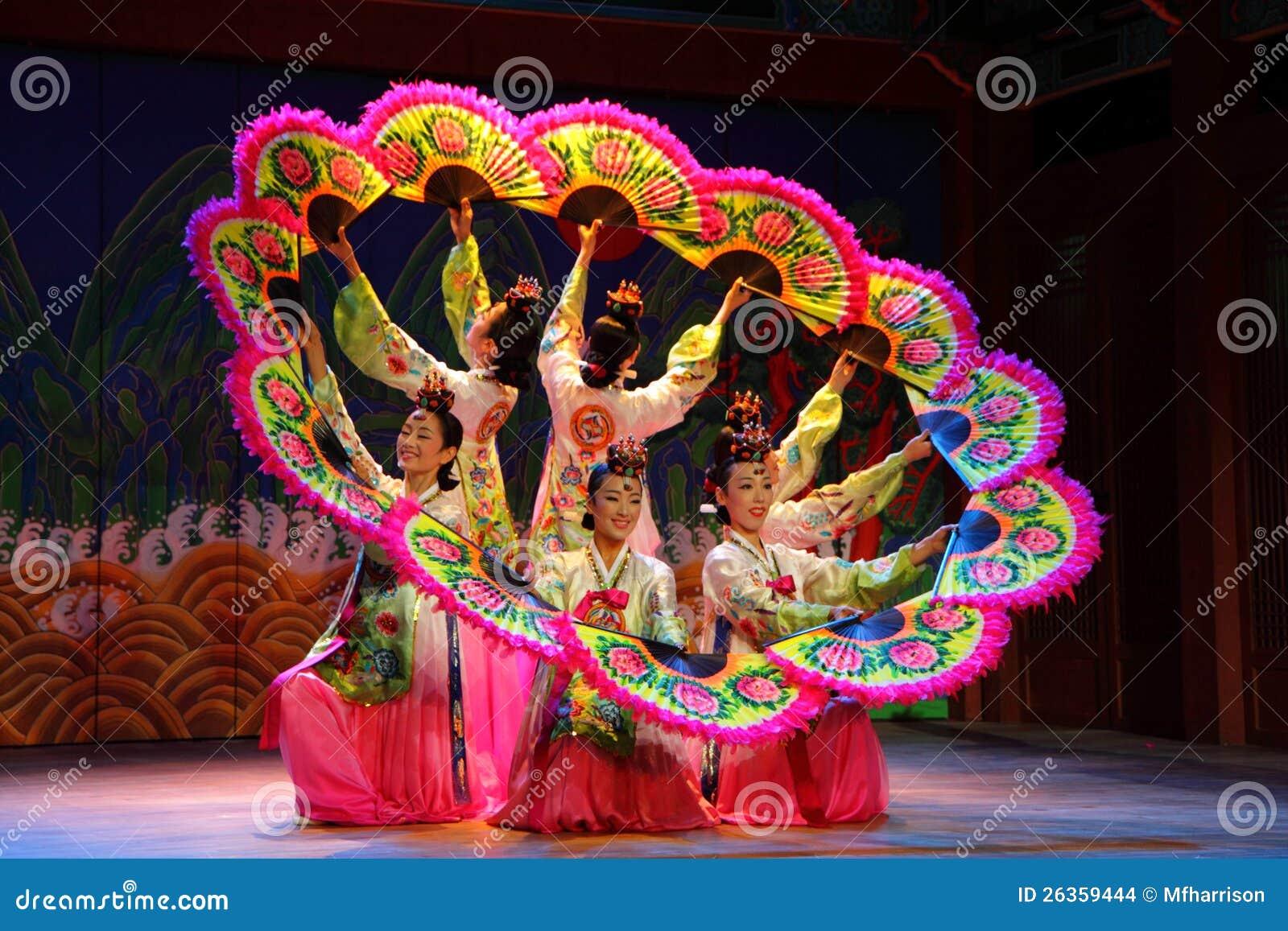 Korean Fan Dance, Seoul, South Korea