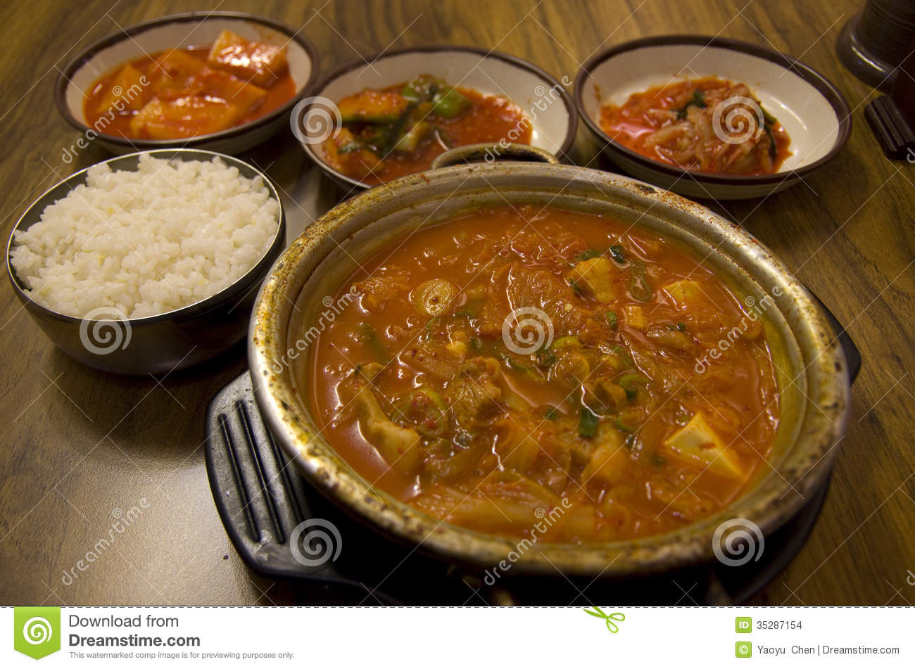 Korean Food Cuisine Kimchi Restaurant Stock Photo - Image of culture ...